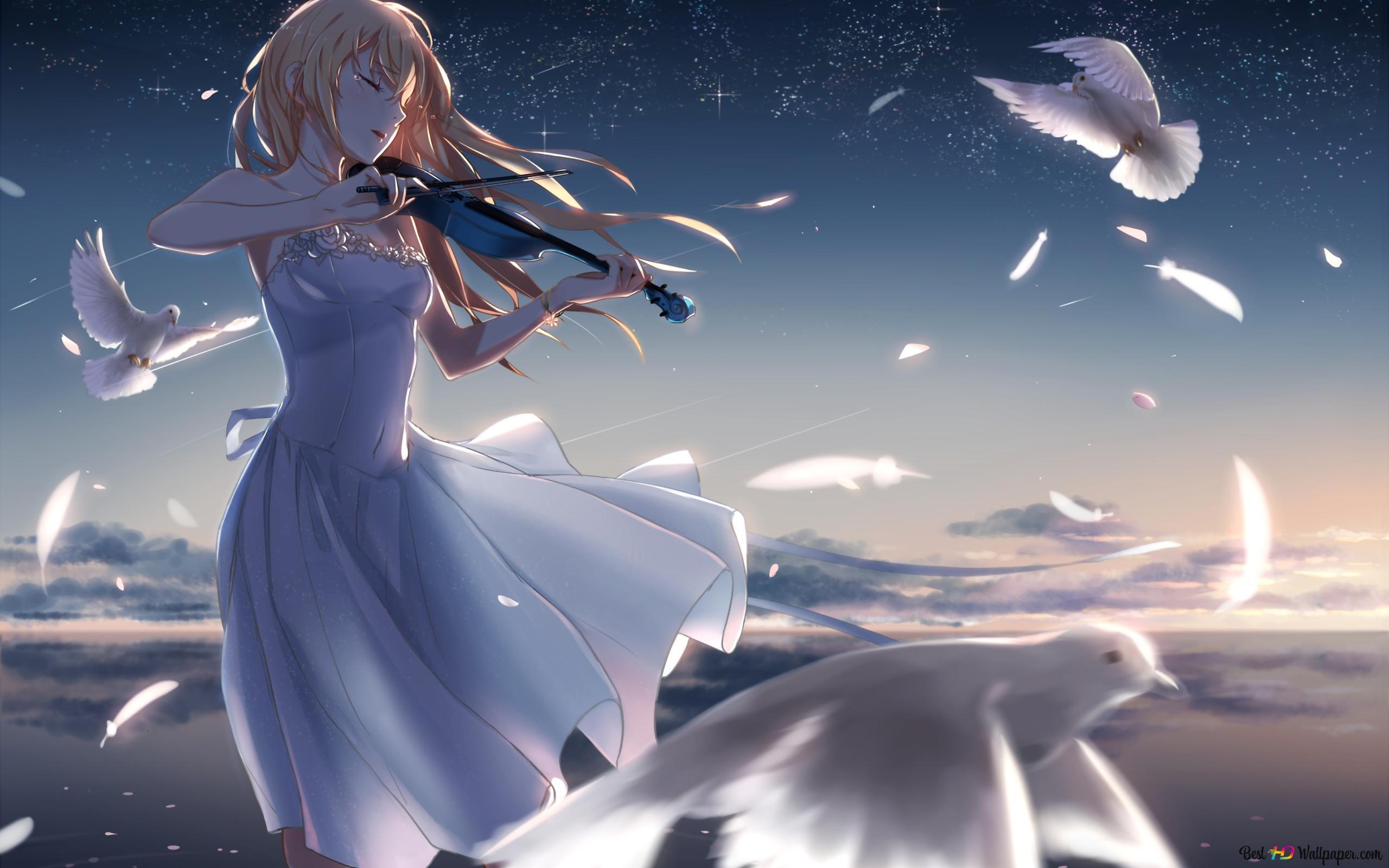 四月は君の嘘から バイオリンの女の子 Hd壁紙のダウンロード