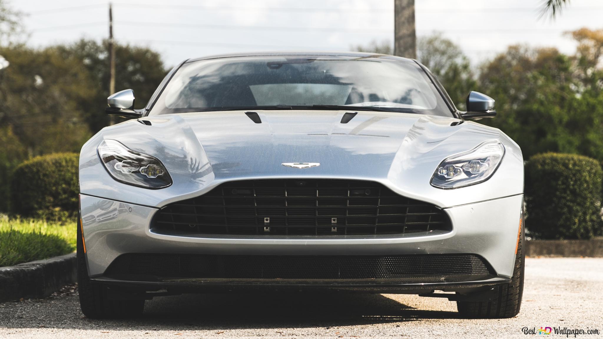 Silver Aston Martin Db11 Sport Car Hd Wallpaper Download