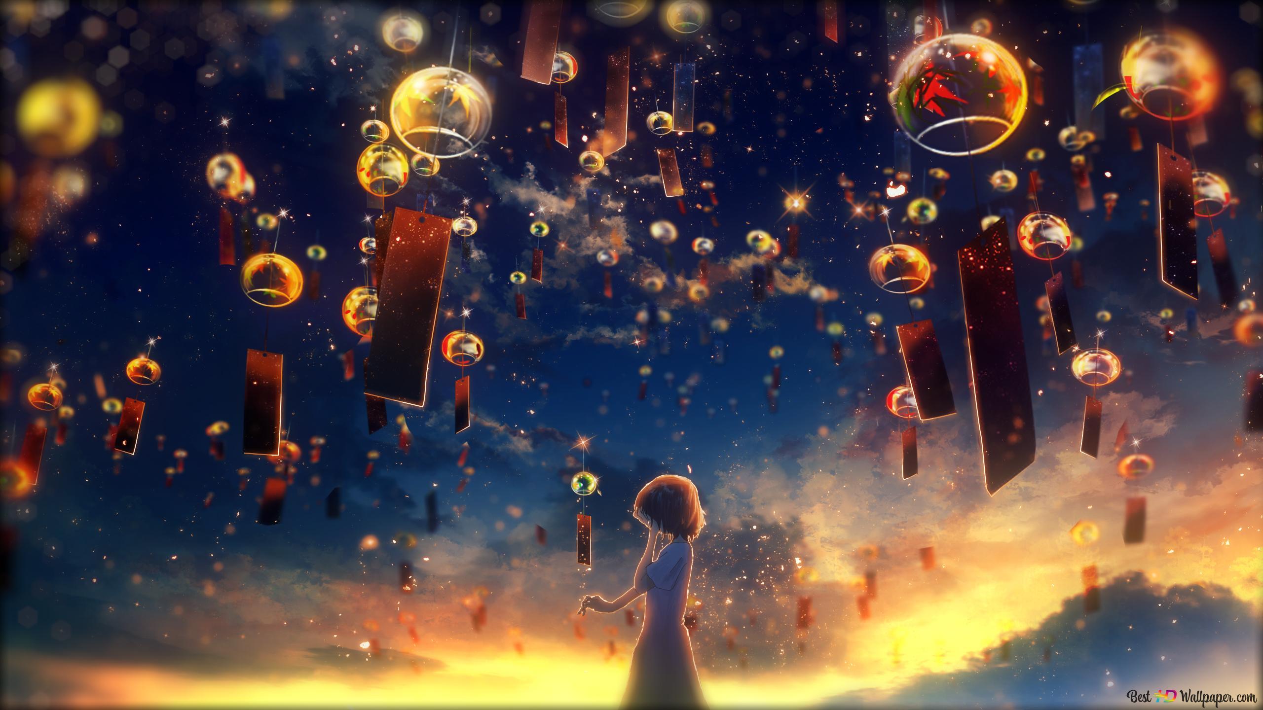 sky light lantern wallpaper 2560x1440 23843 51