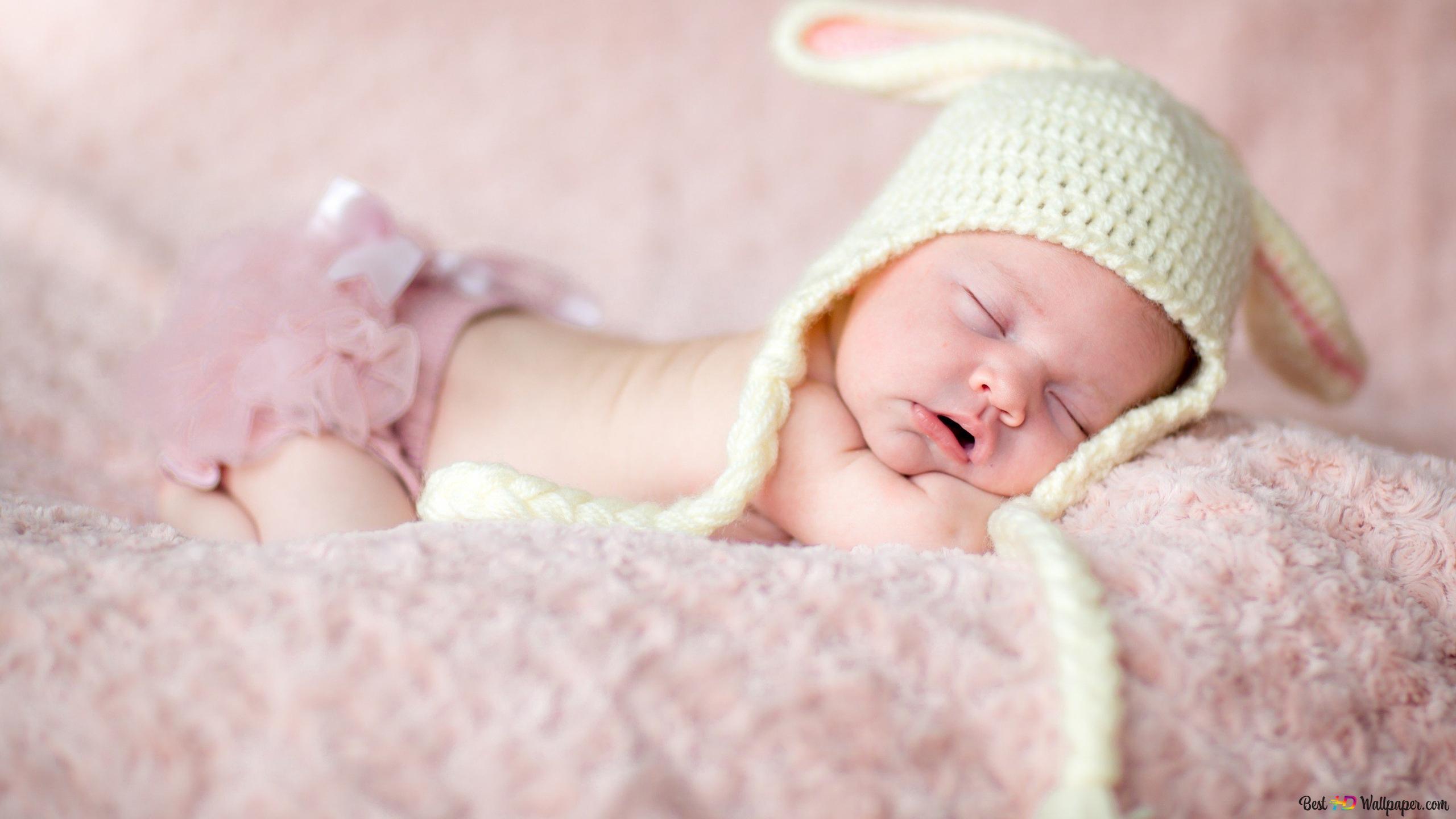 Sleeping Baby Cute Hd Wallpaper Download