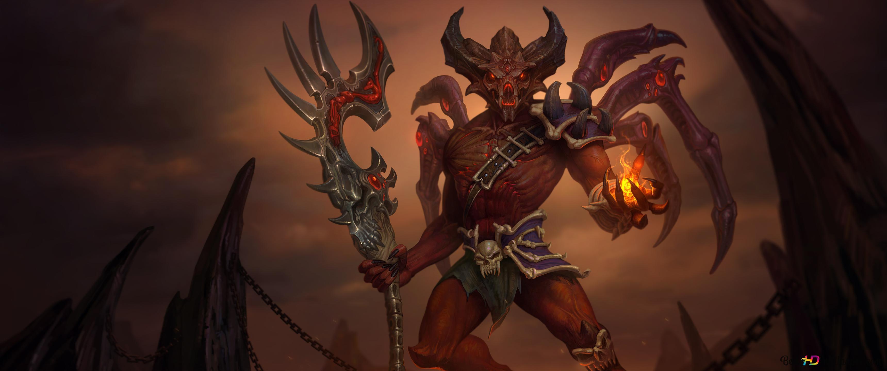 Smite Demonic Anubis Hd Wallpaper Download