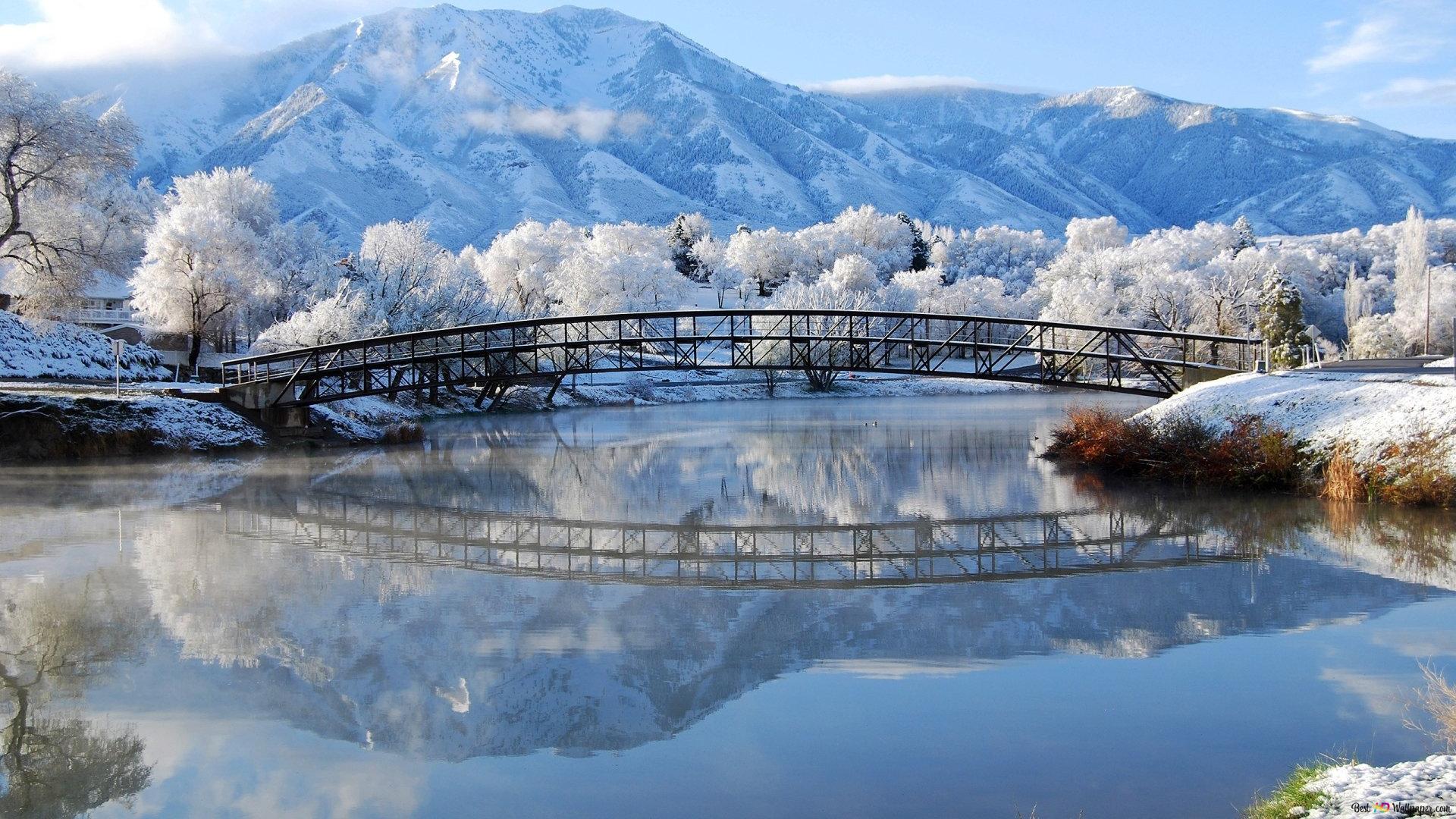 Snowy Witte Reflectie Van De Natuur Hd Wallpaper Downloaden