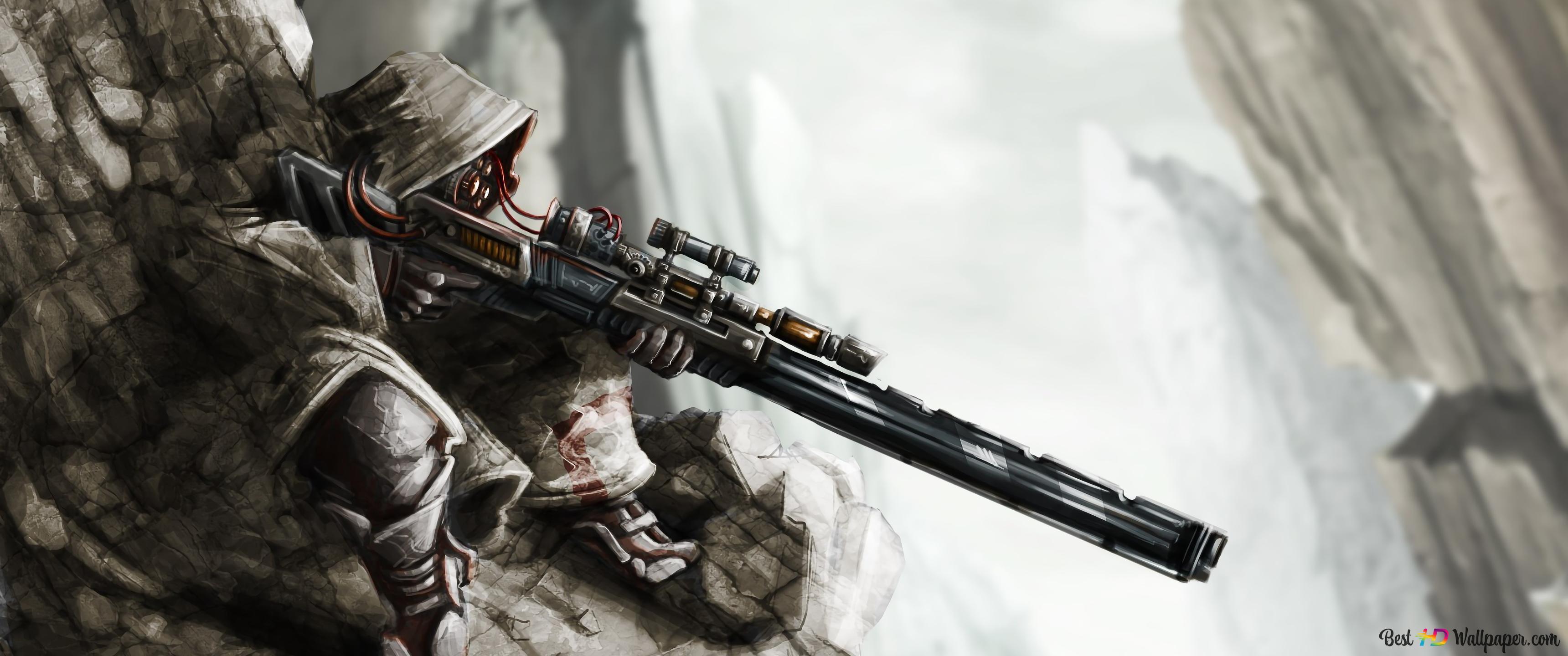 Soldier Sniper Rifle HD wallpaper download