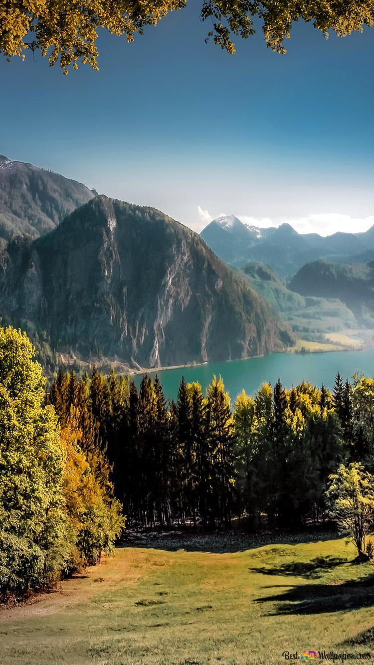 Sorprendente Paesaggio Verde E Le Montagne Download Di Sfondi Hd