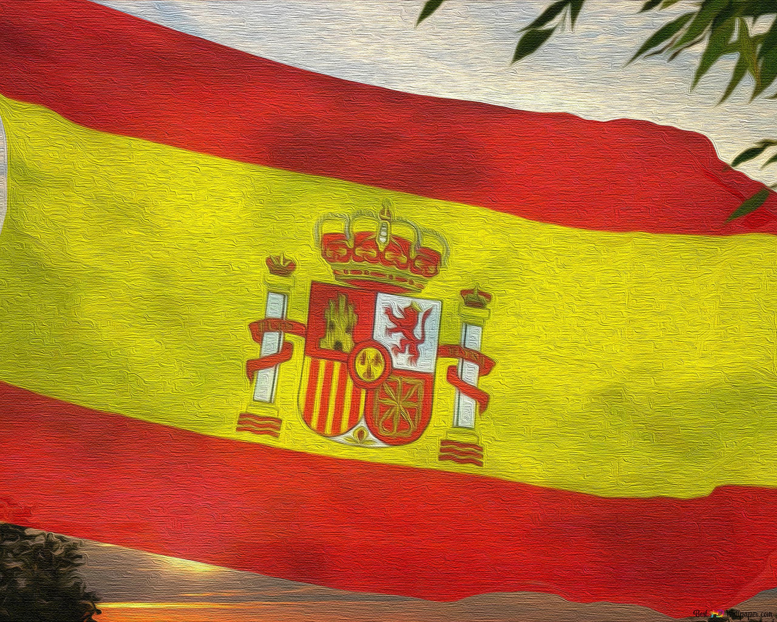 Spain Flag Canvas Hd Wallpaper Download