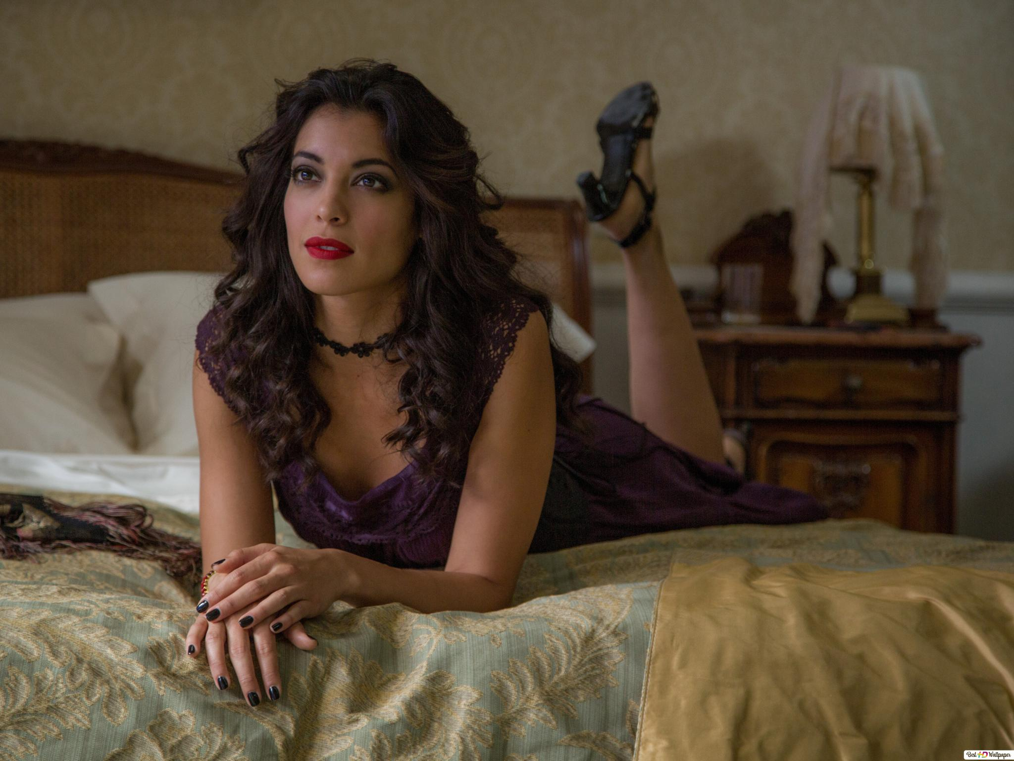 Spectre Pretty Lady Lying On The Bed Hd Wallpaper Download