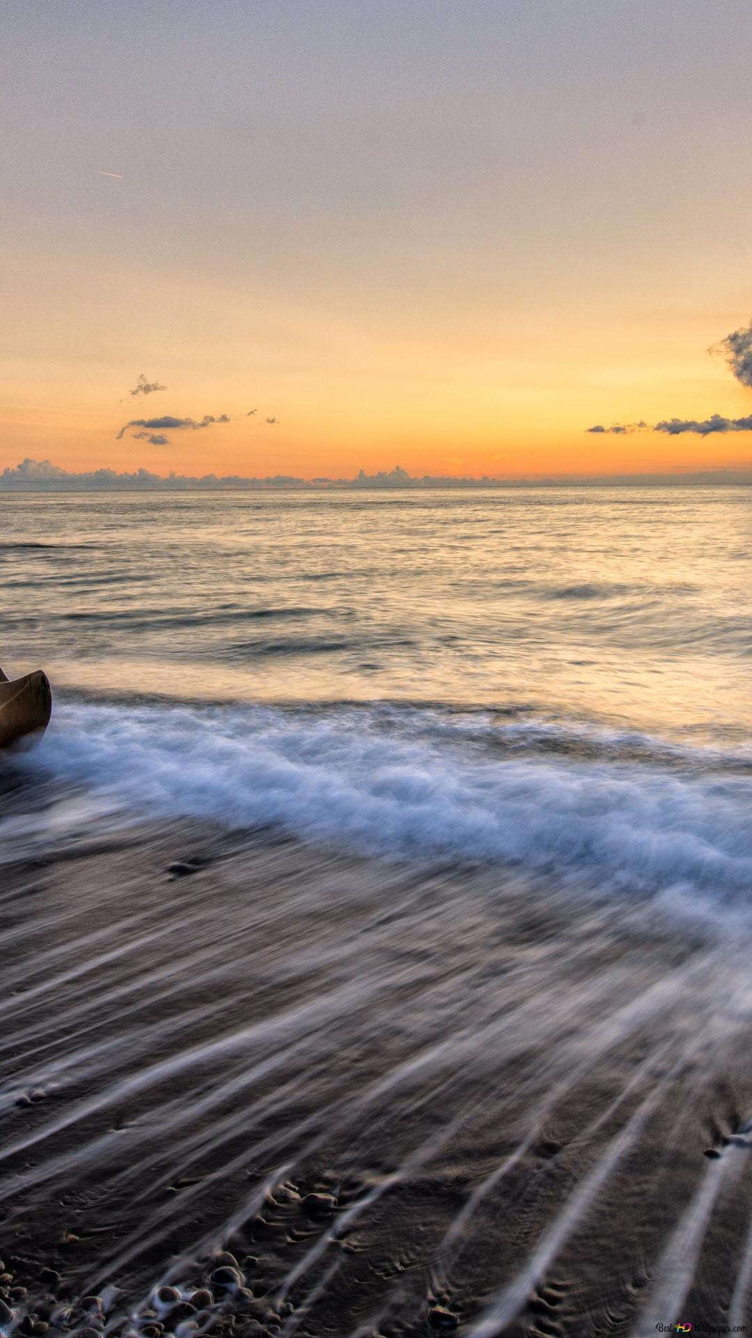 Spiaggia E Tramonto Download Di Sfondi Hd