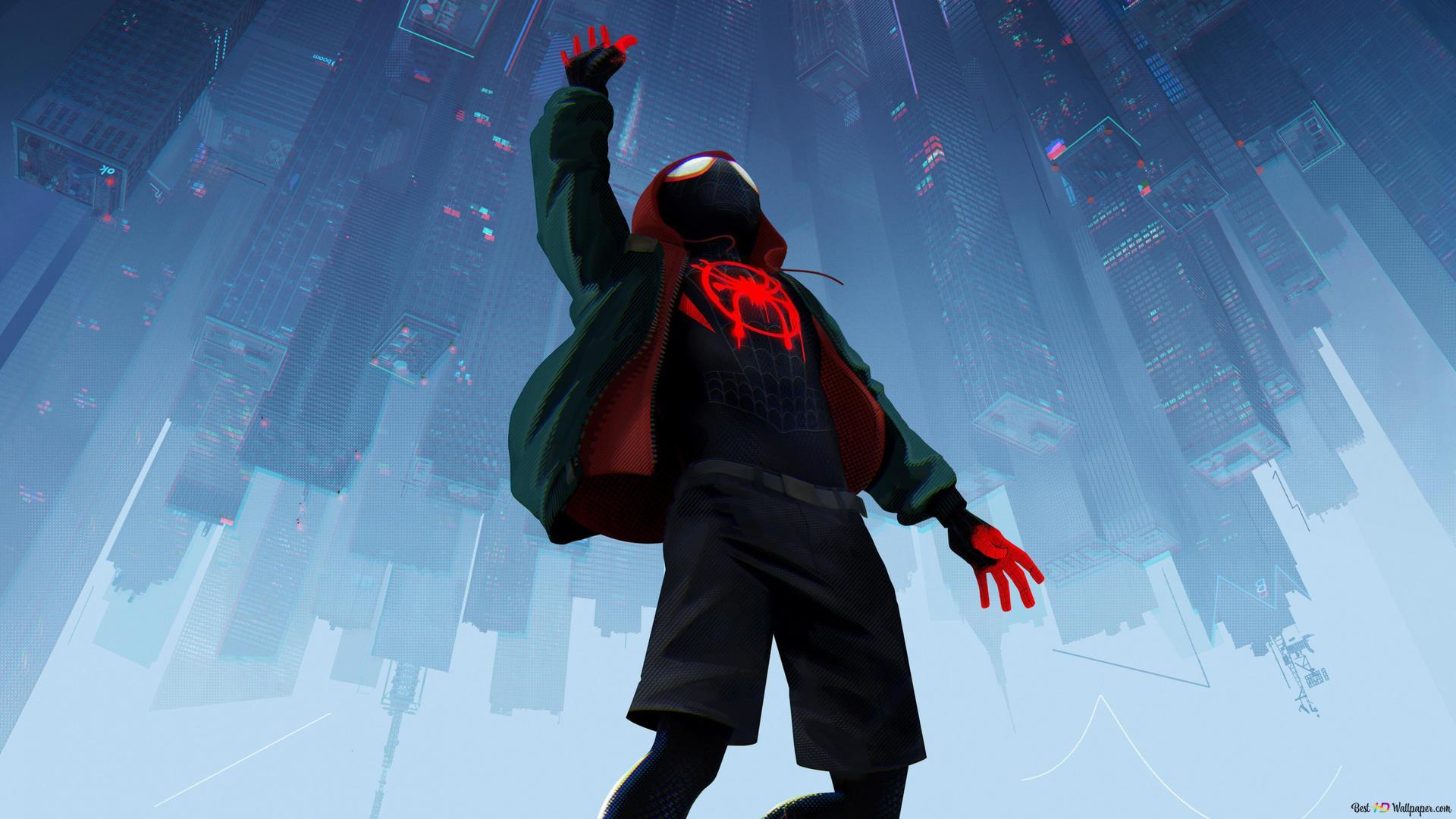 Descargar Fondo De Pantalla Spider Man En La Araña Verse Hd