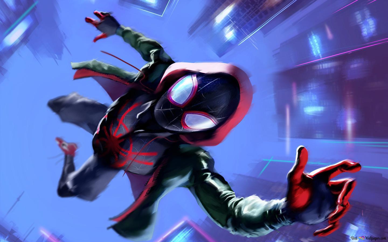 Spider Man Into The Spider Vers Film Spiderman Noir Hoodie Held