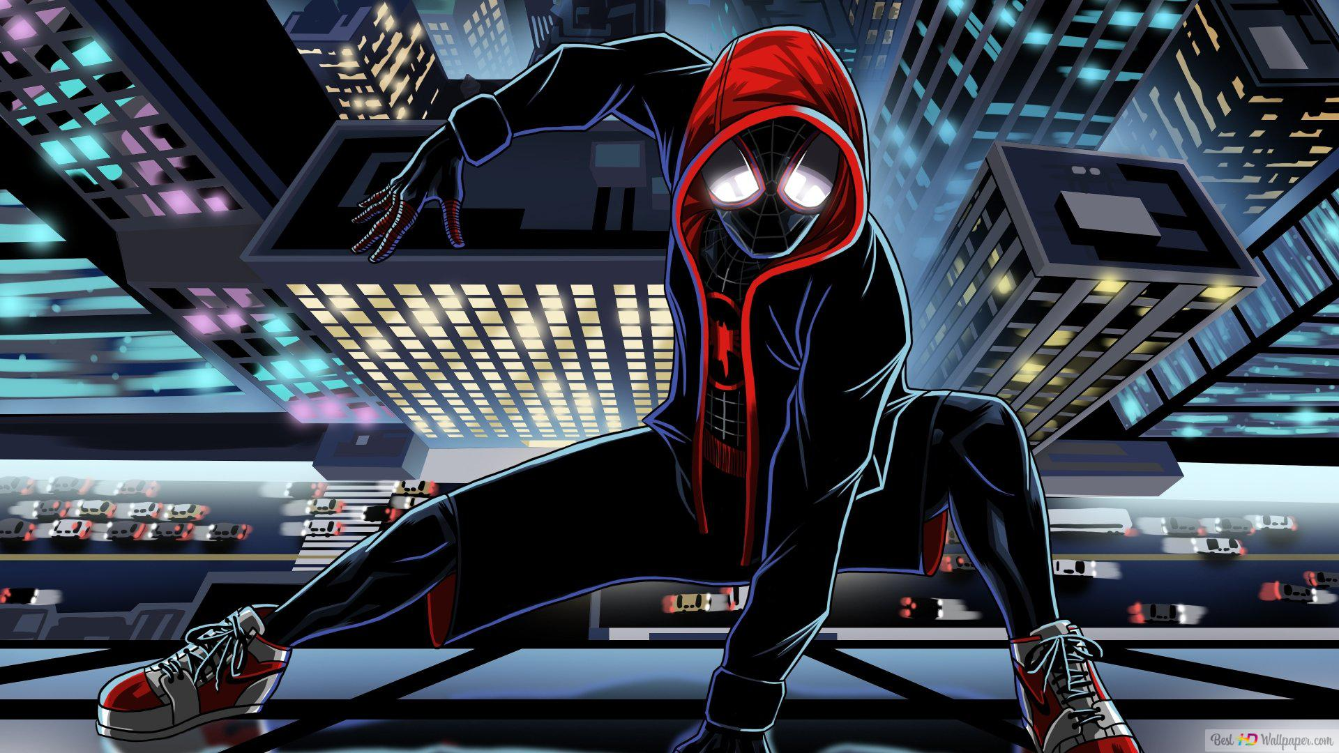 Spider Man Into The Spider Verse Animation Hd Wallpaper Download