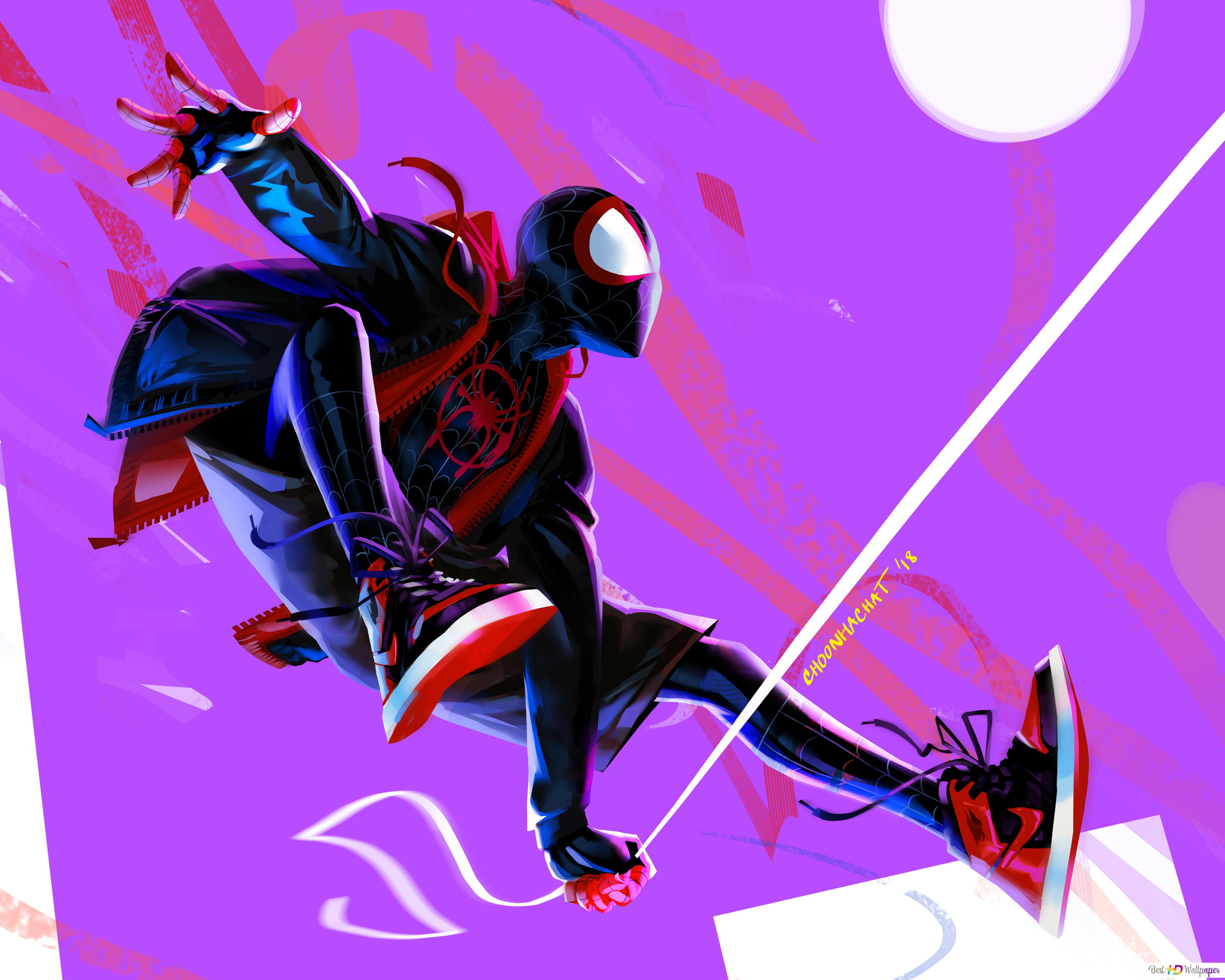 Spider Man Into The Spider Verse Movie Miles Morales In Hood Hd