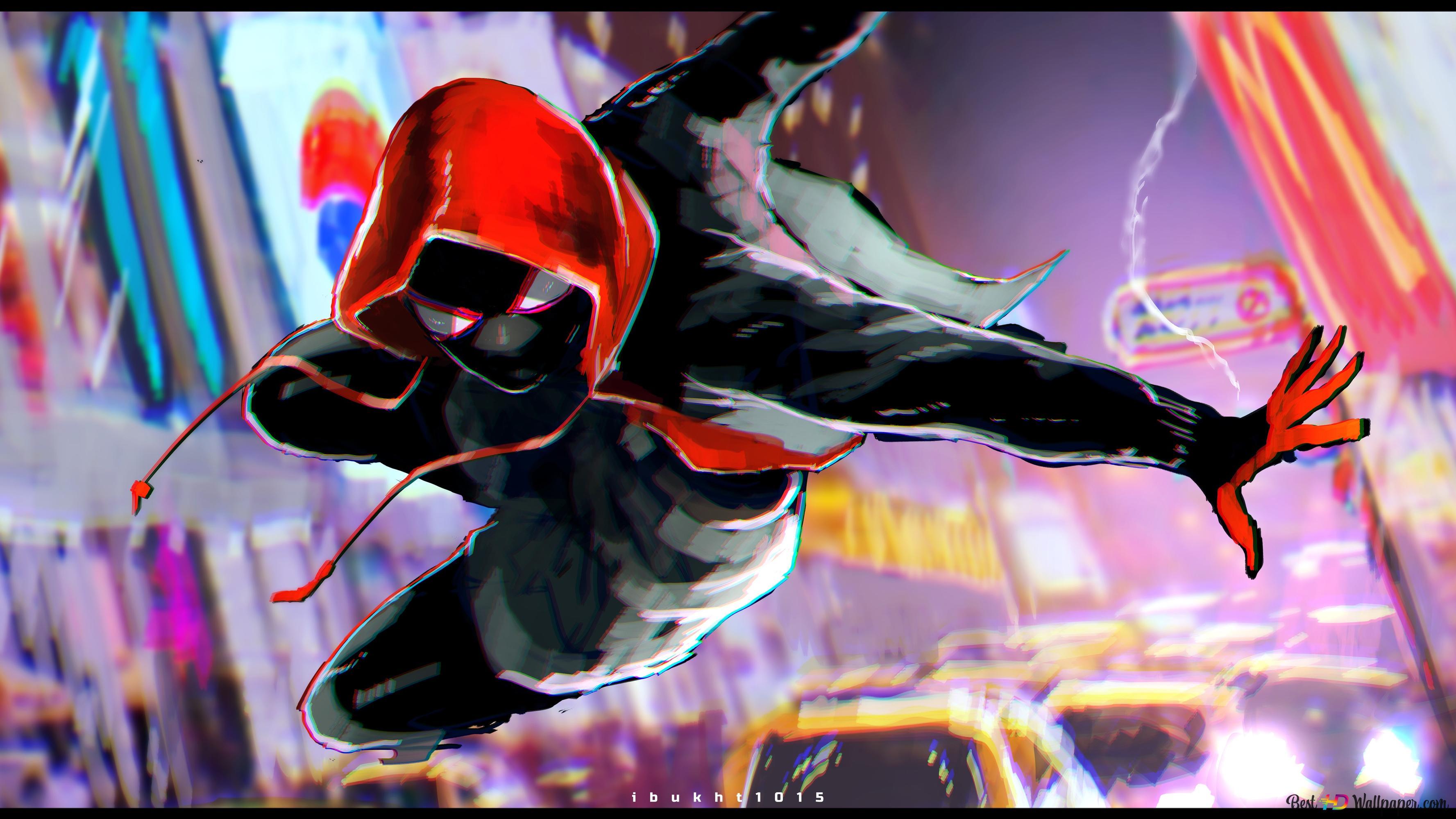 Spider Man Into The Spider Verse Movie Miles Morales Spiderman