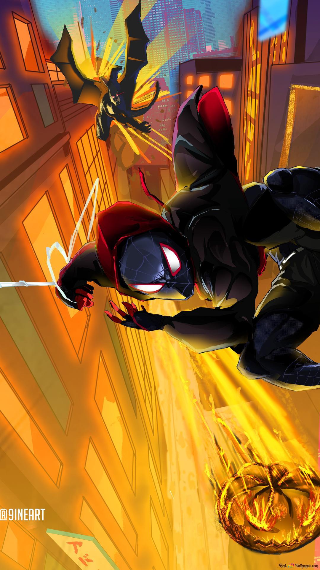 Spider Man Into The Spider Verse Movie Spiderman Noir Digital Art