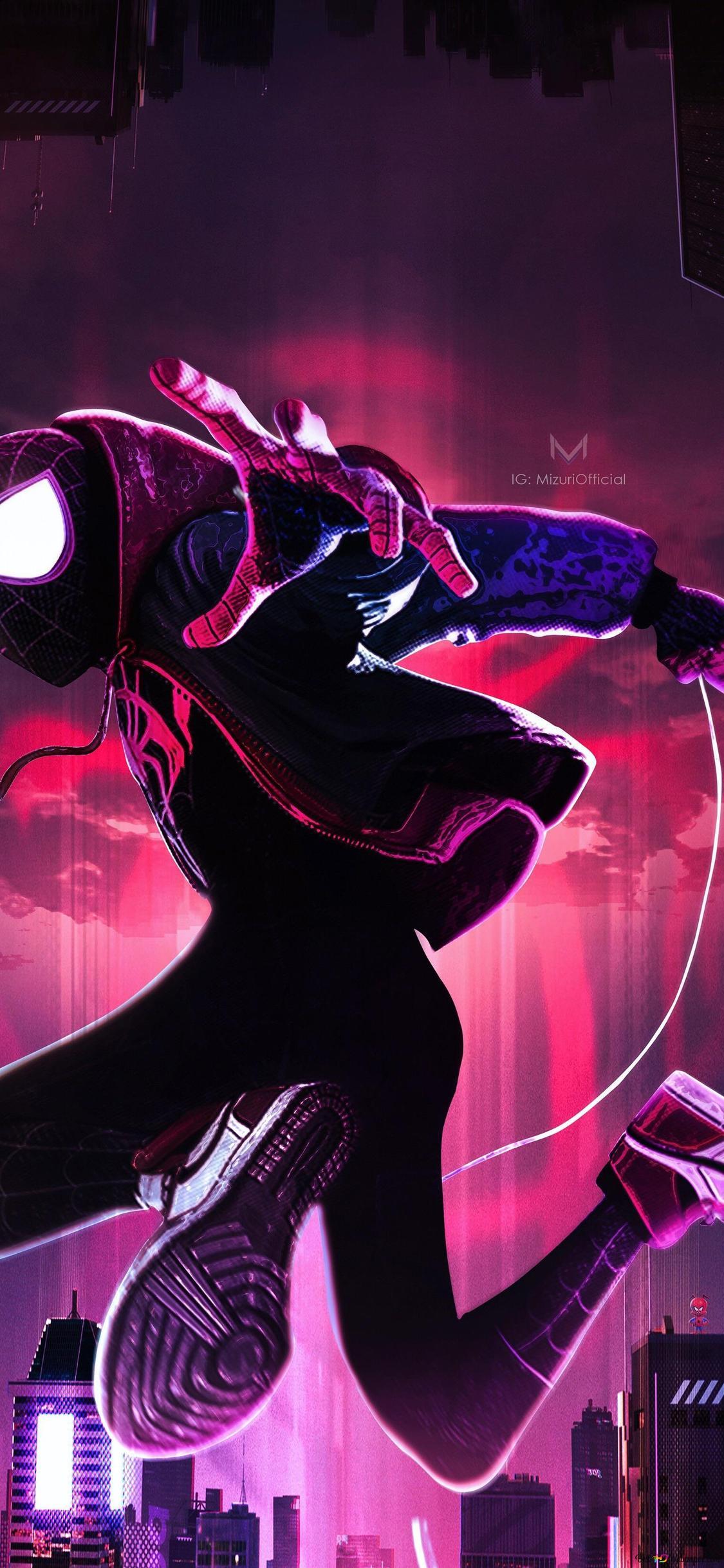 Spider Man Into The Spider Verse Movie Spiderman Noir Fanart Hd