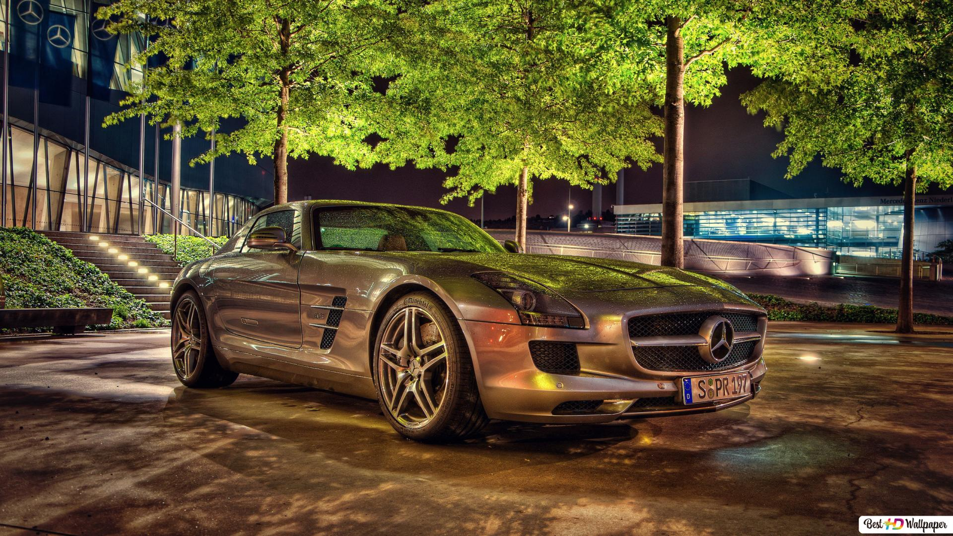 Sport Mercedes Car Photography Background Hd Wallpaper Download
