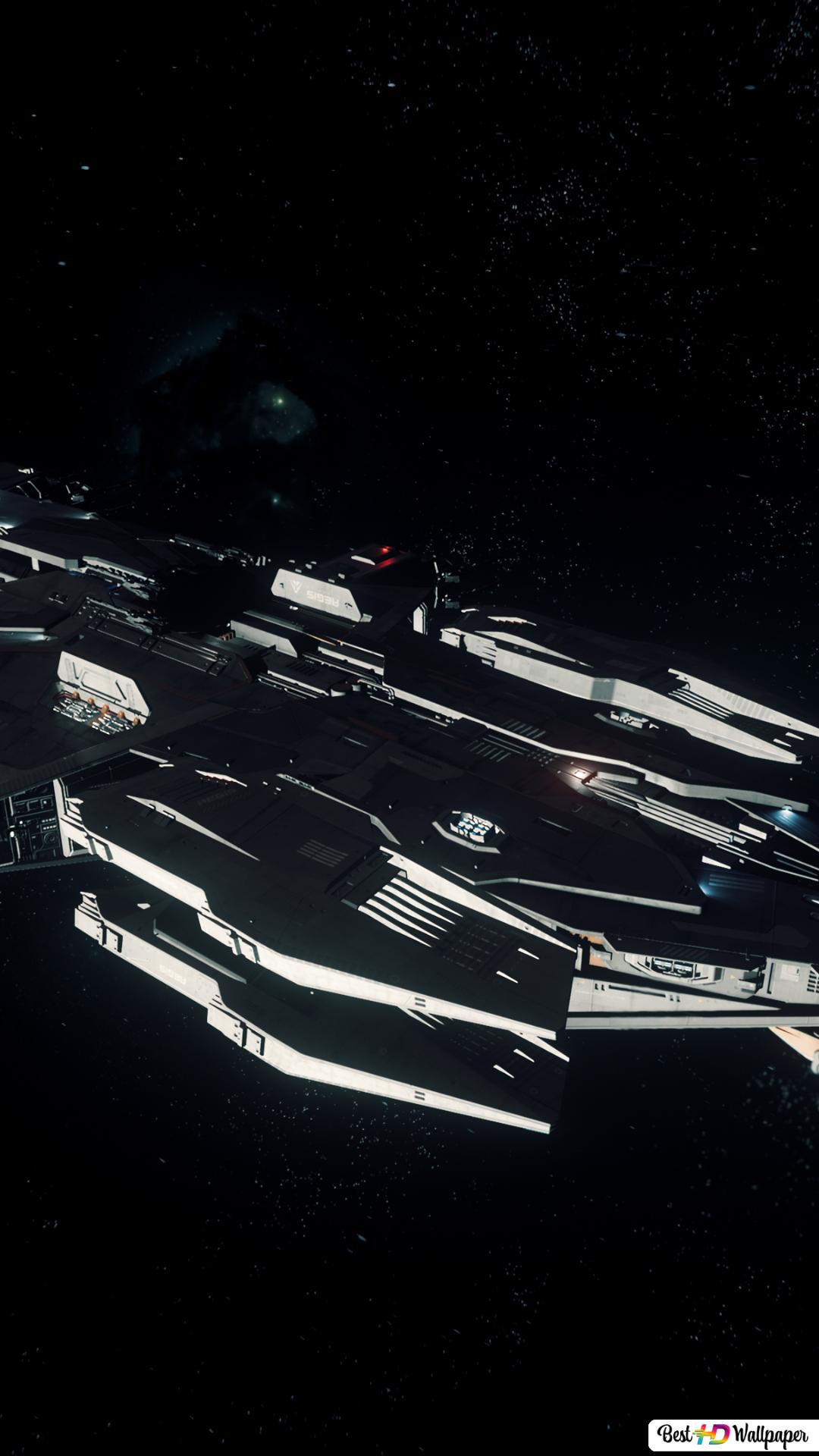 Star Citizen Hamerhaai In De Ruimte Hd Wallpaper Downloaden