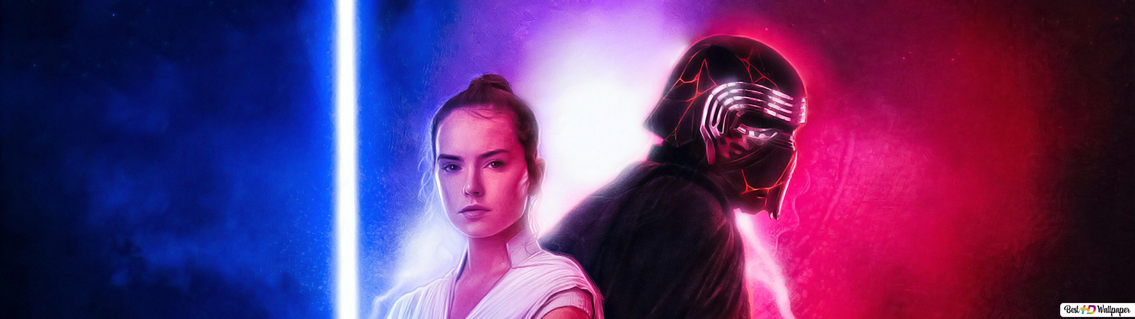 Star Wars 9 Rey And Kylo Hd Wallpaper Download