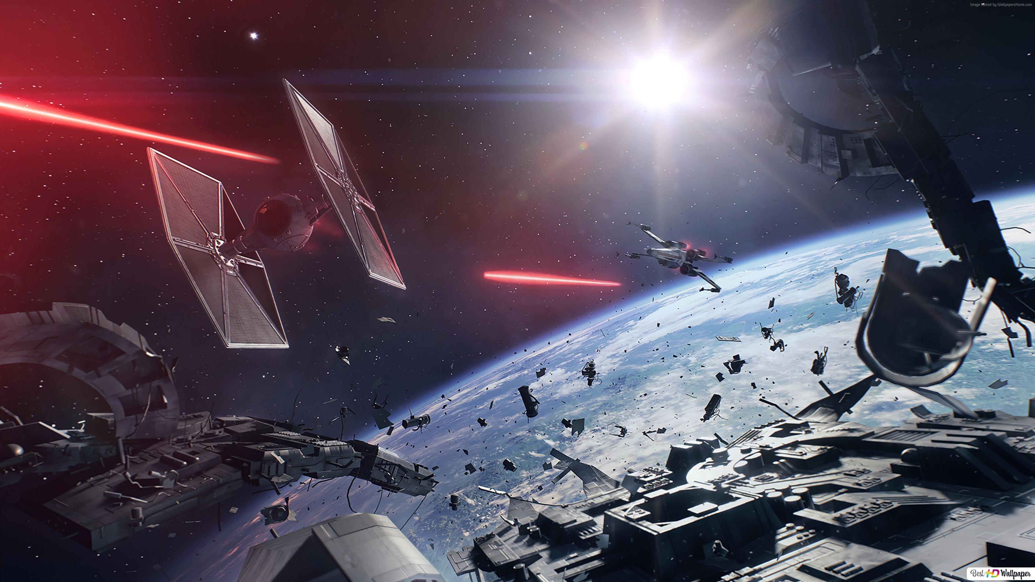 Star Wars Battlefront 2 Game Starship In Space Hd Wallpaper