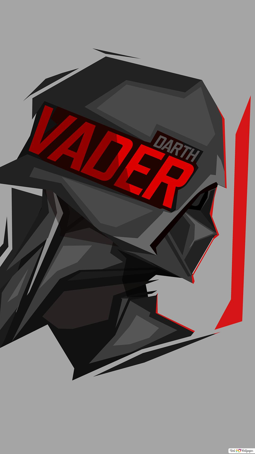 Star Wars Darth Vader Minimalist In Gray Wallpaper Background Hd Wallpaper Download