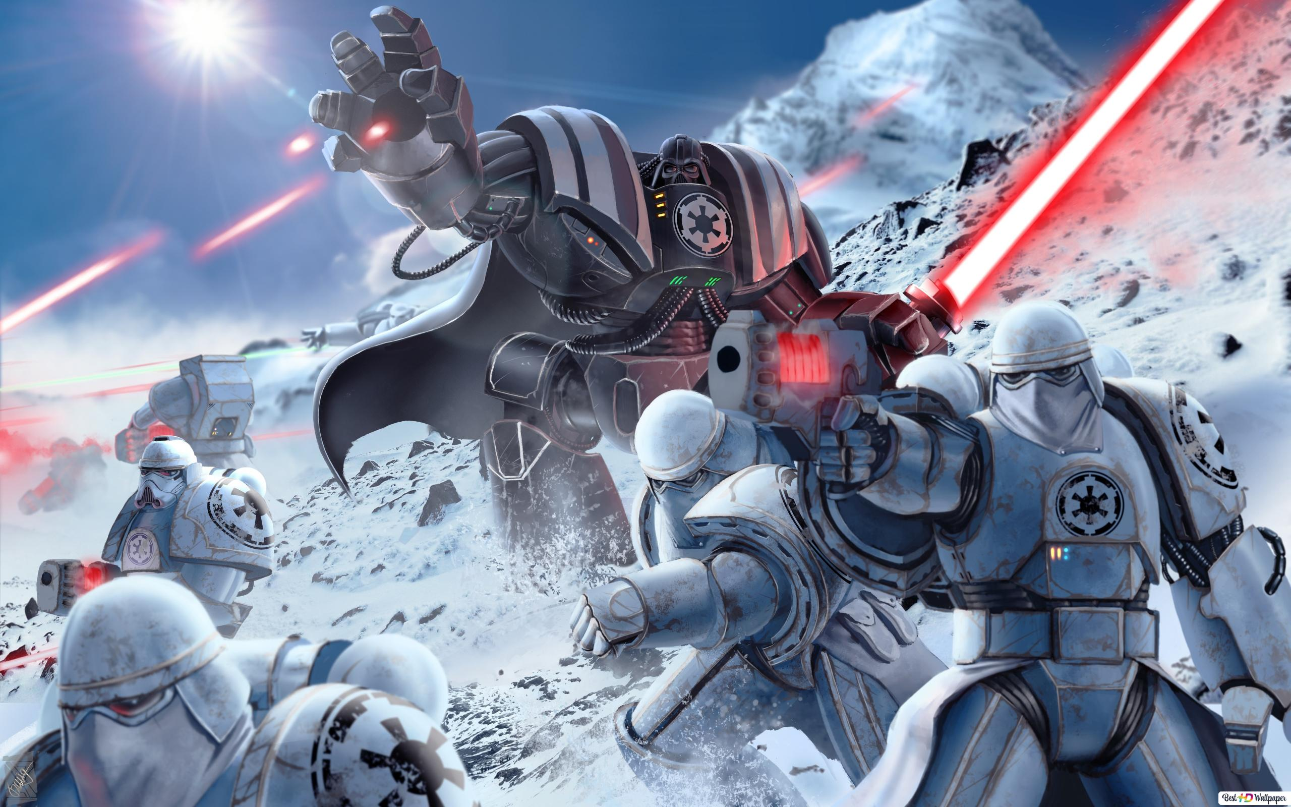 Star Wars Darth Vader Mit Sturmtruppen Hd