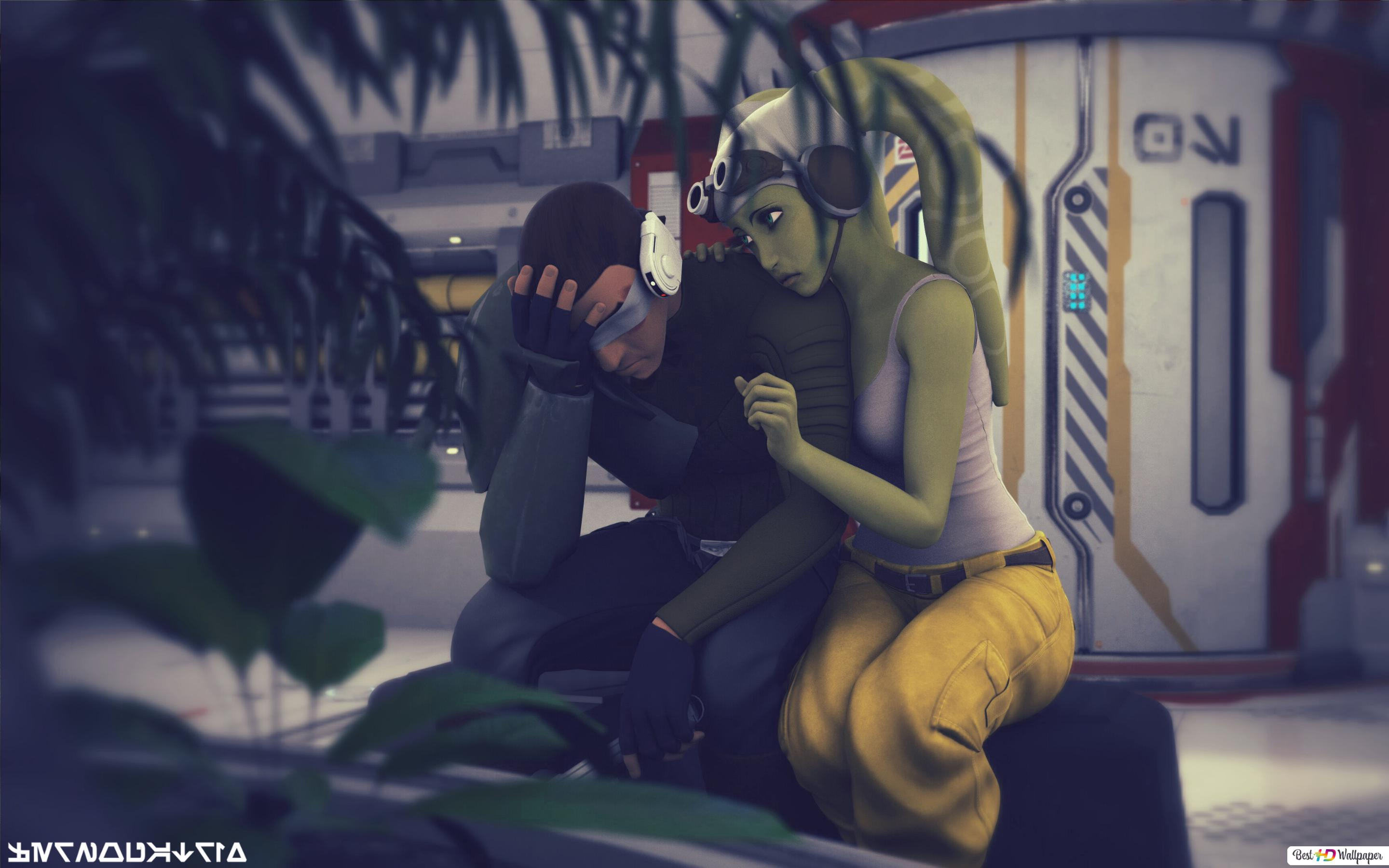 Star Wars Rebels Hera Syndulla And Kanan Jarrus Hd Wallpaper Download
