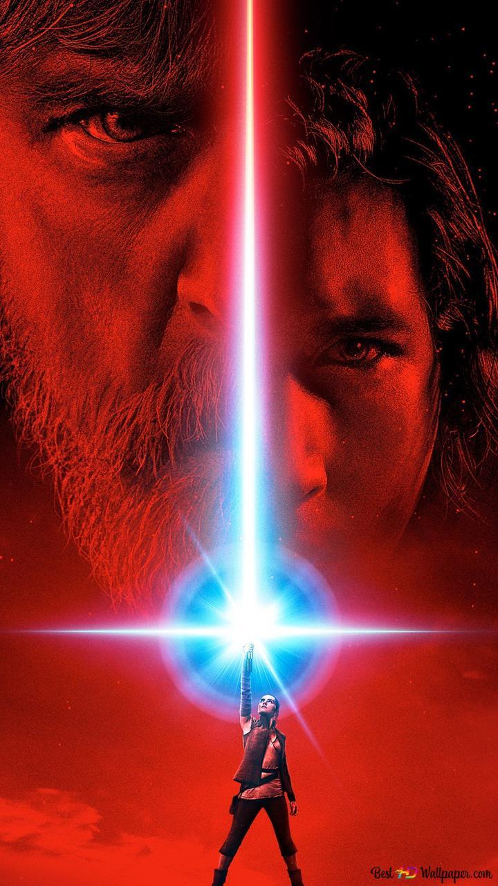 Star Wars The Last Jedi Rey And Luke Hd Wallpaper Download