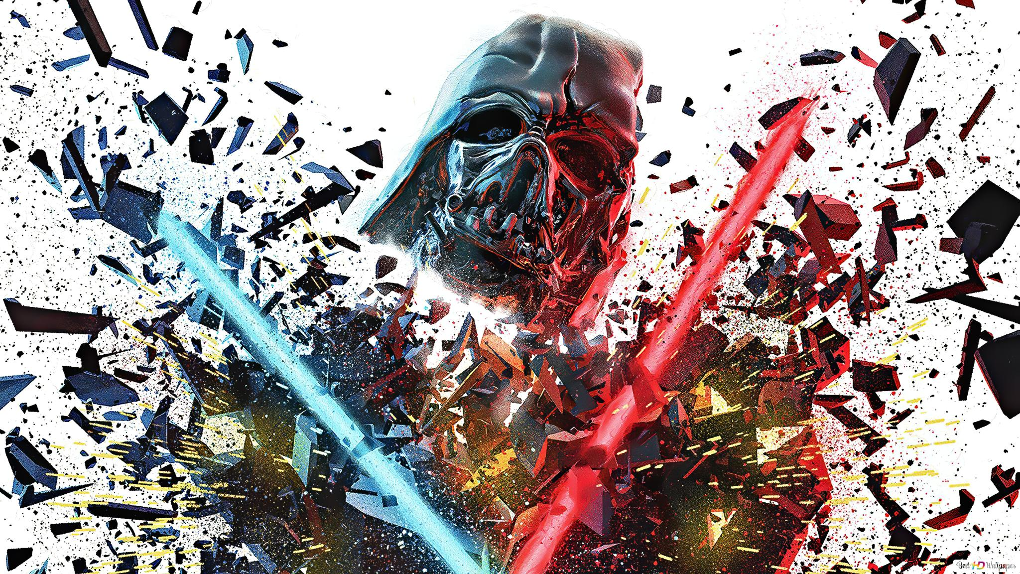 Star Wars Trooper And Lightsaber Hd Wallpaper Download