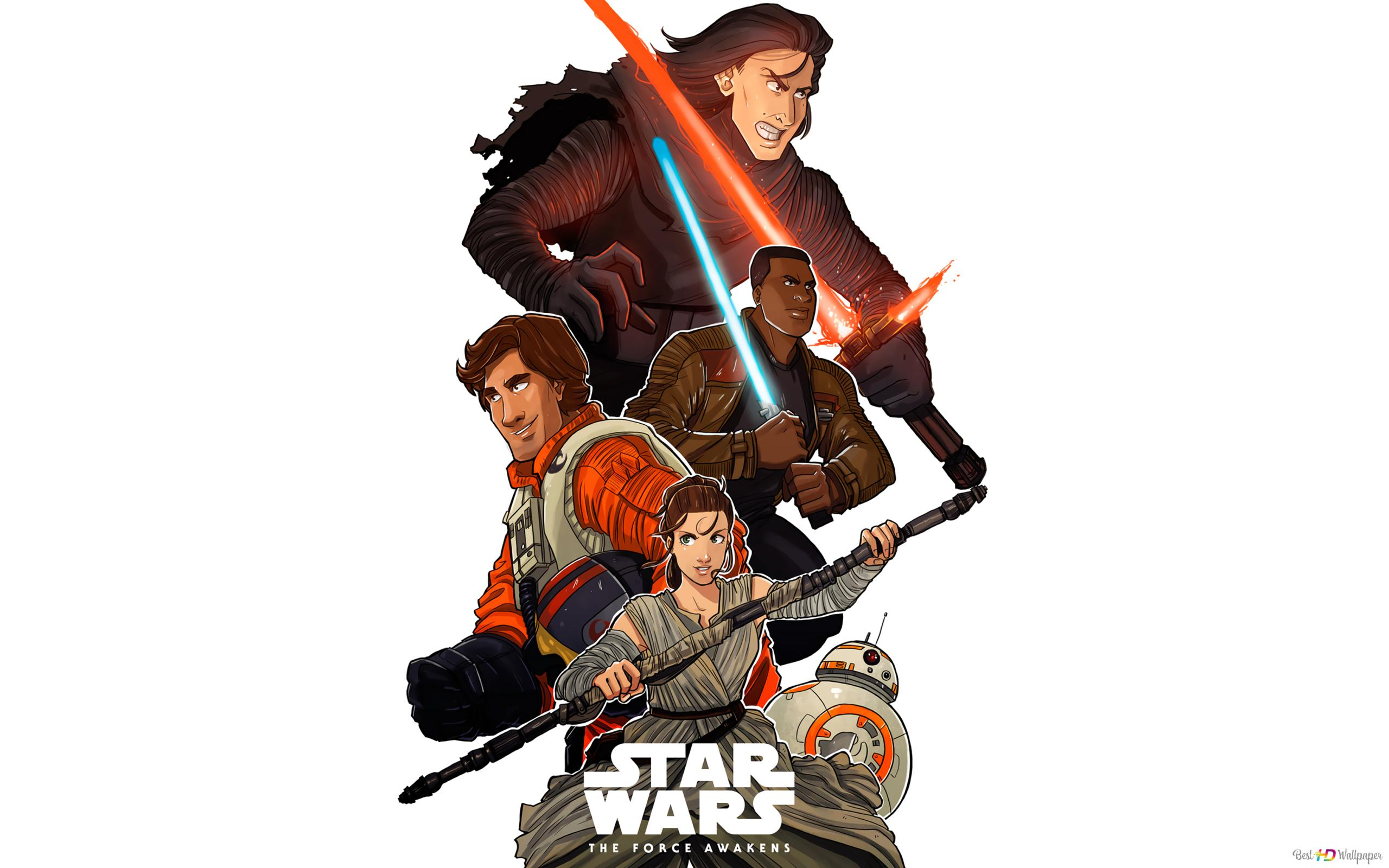 Star Wars Vii The Force Awakens Animated Hd Wallpaper Download