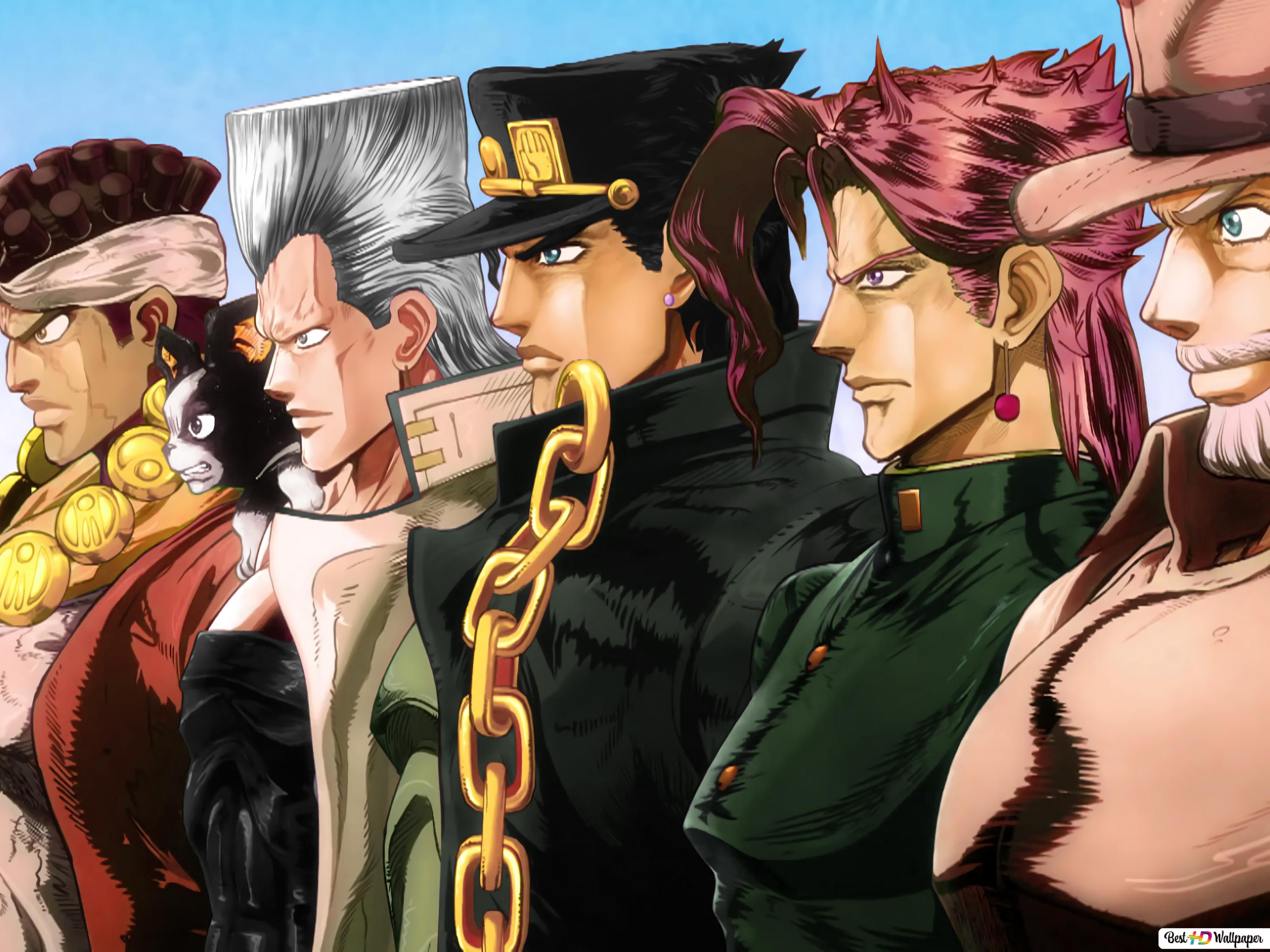 stardust crusaders of jojo s bizarre adventure hd wallpaper download