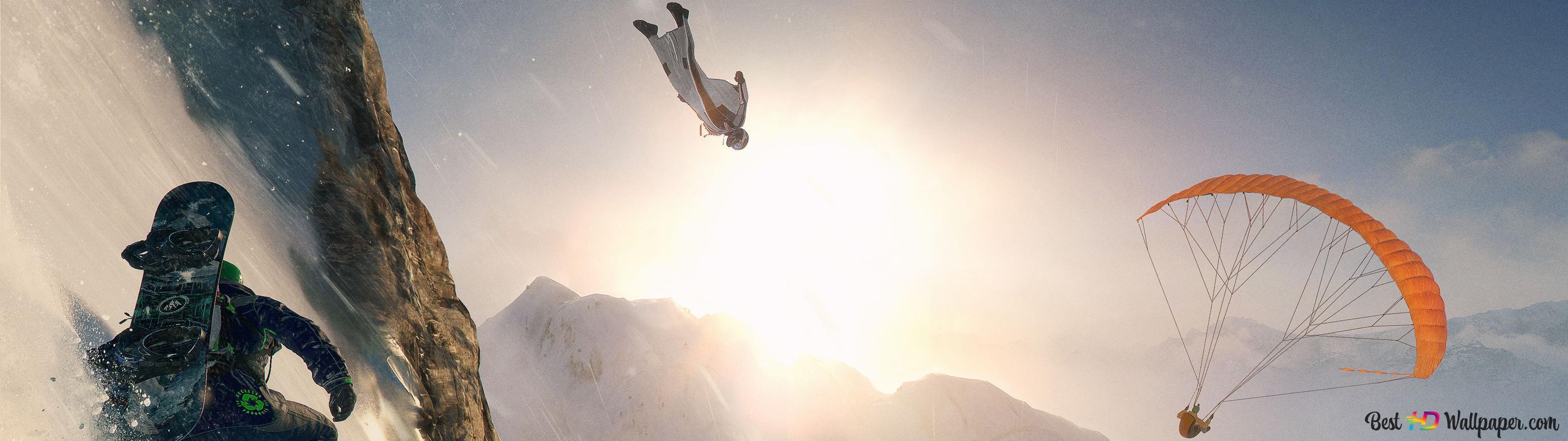 Steil Schnee Und Berge Hd Hintergrundbilder Herunterladen