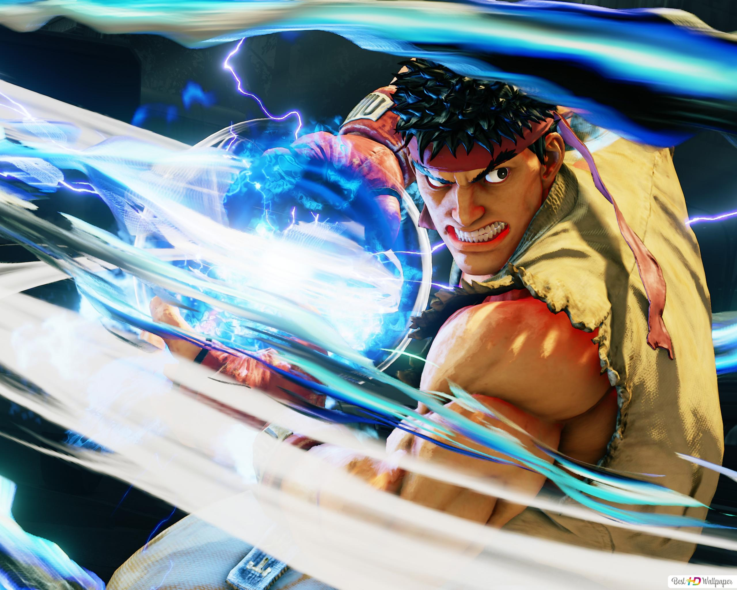 Street Fighter V Ryu Hadouken The Fighter Hd Wallpaper Download