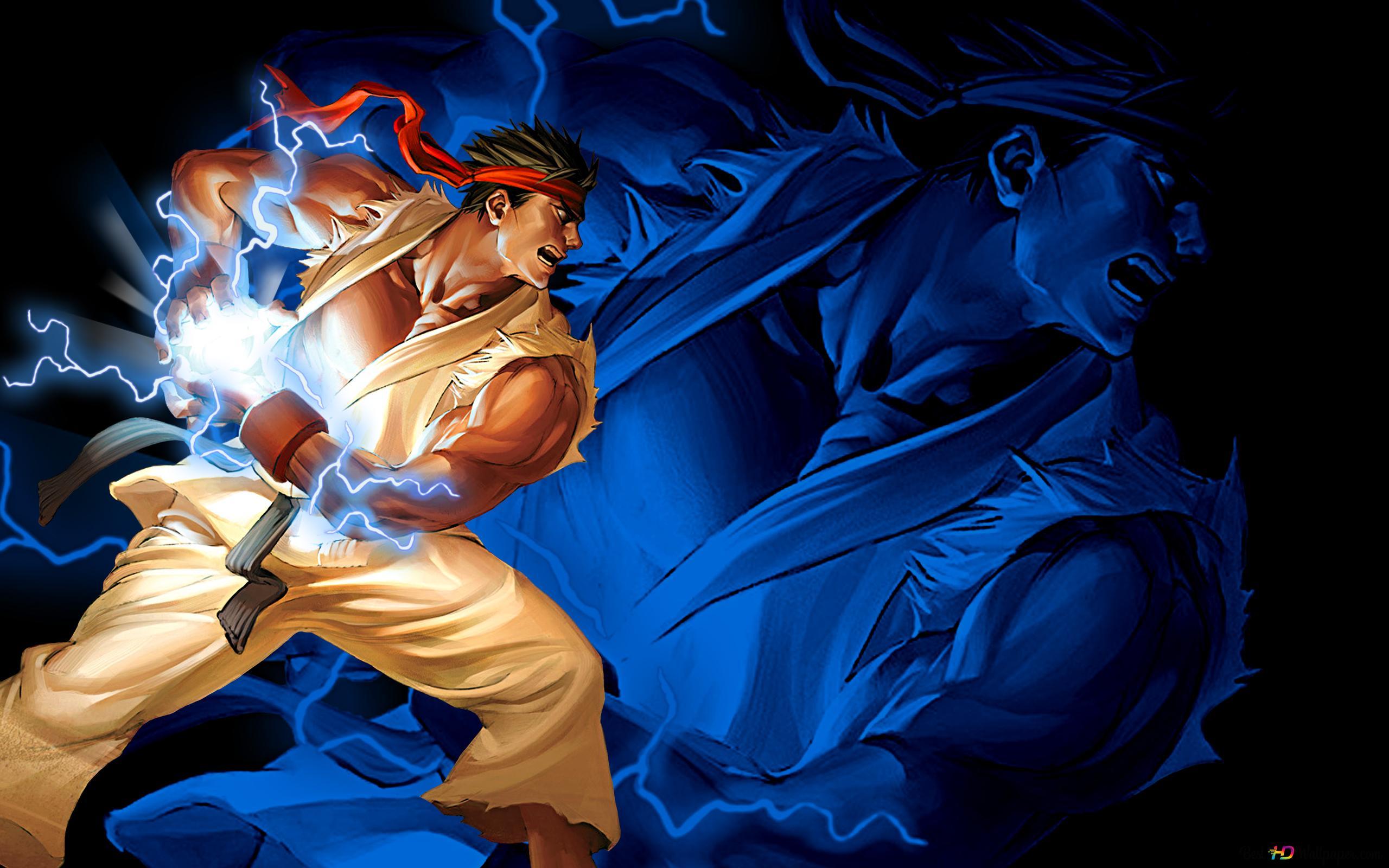 Street Fighter V Ryu Hadouken Hd Wallpaper Download