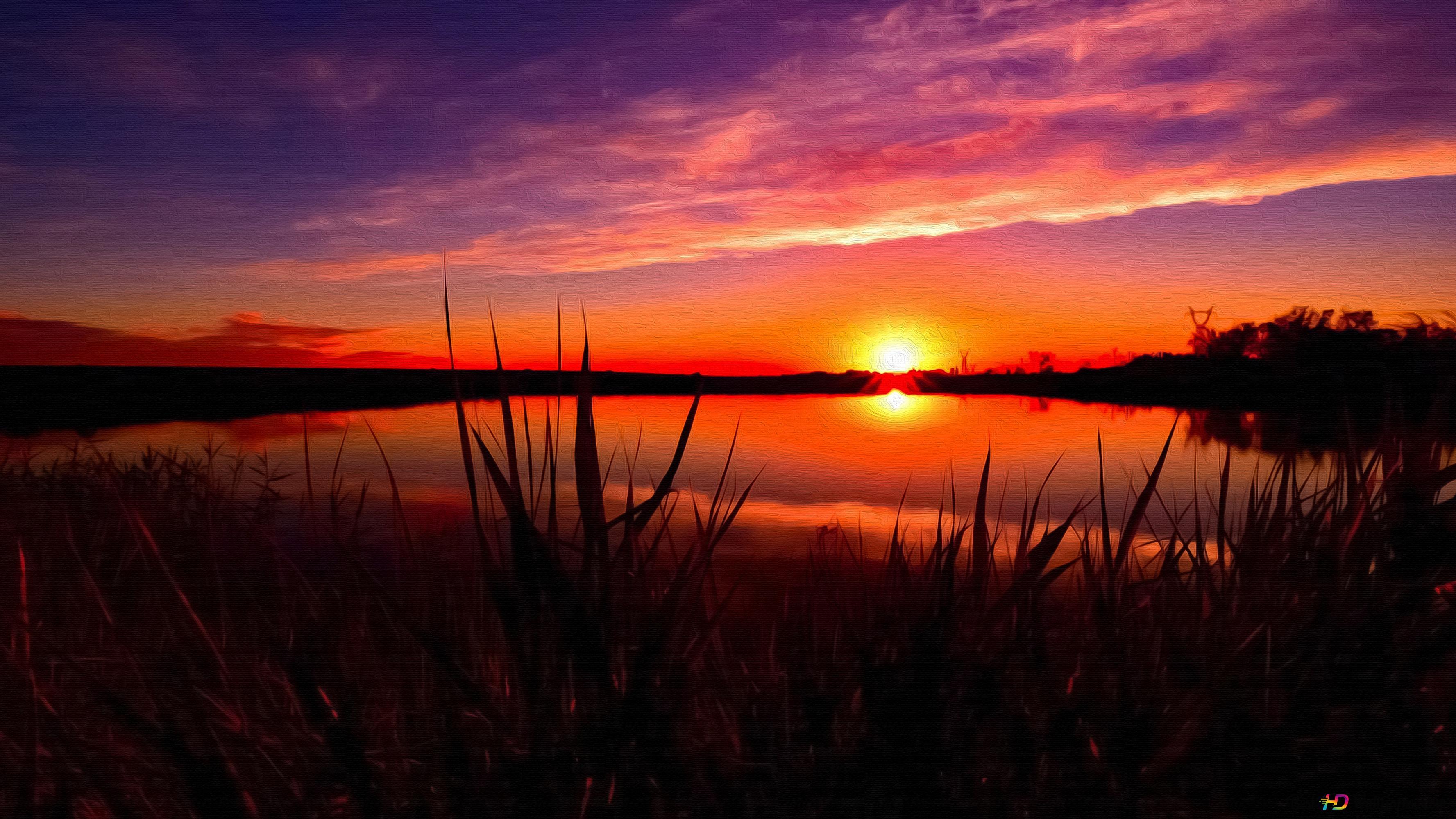 Sunset Reflection Hd Wallpaper Download