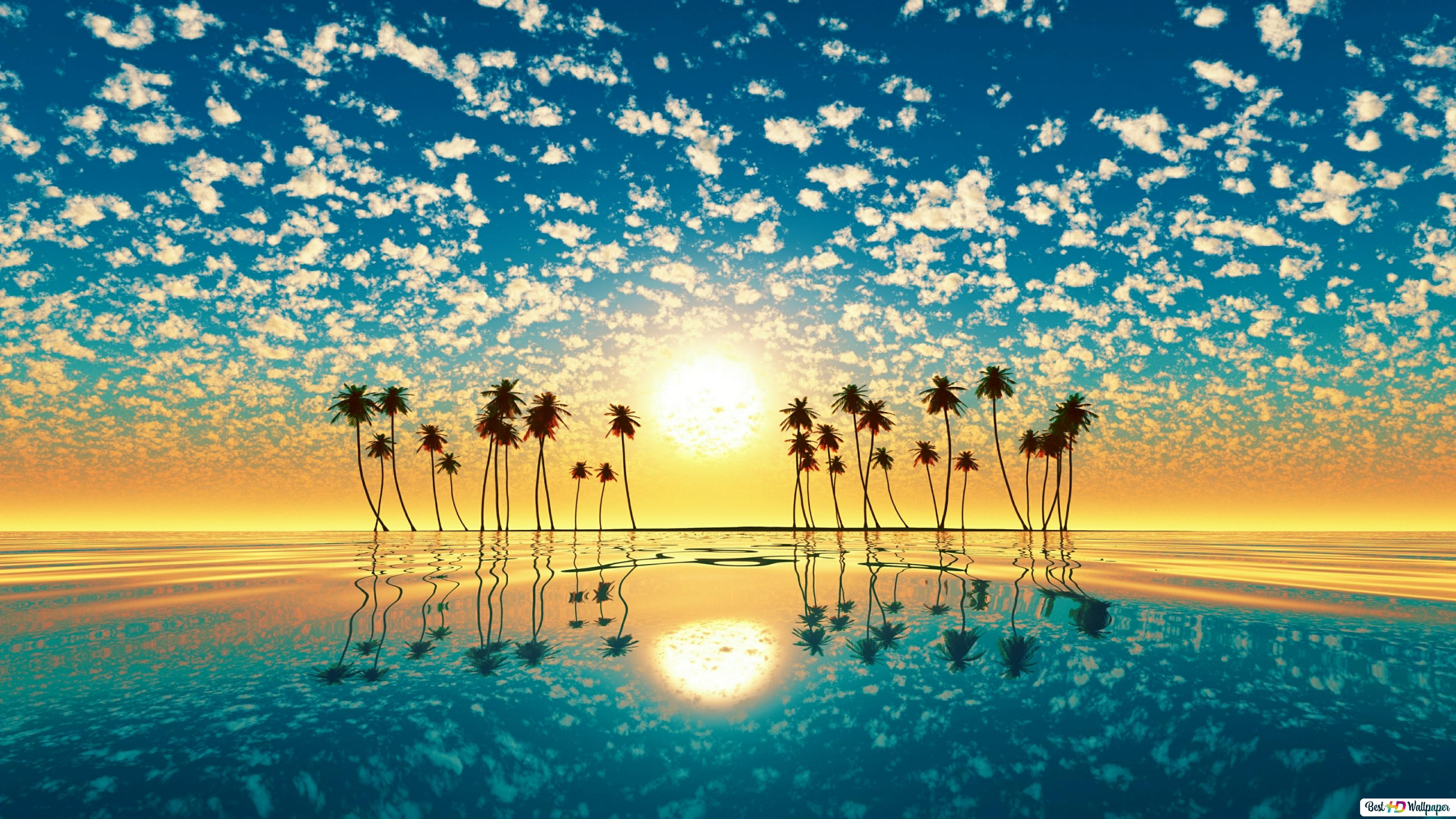 Sunset S Reflection Hd Wallpaper Download