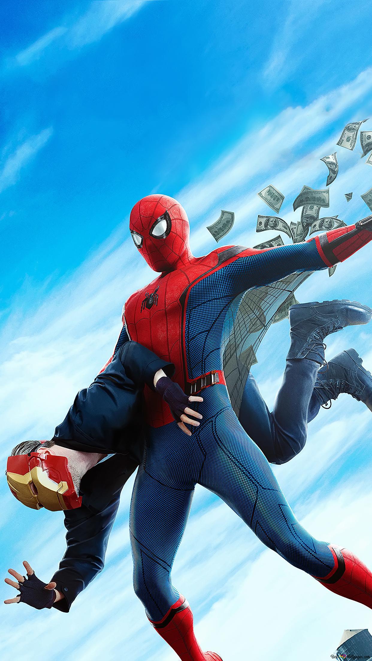 スパイダーマン ホームカミング映画 スパイダーマン銀行強盗と Hd