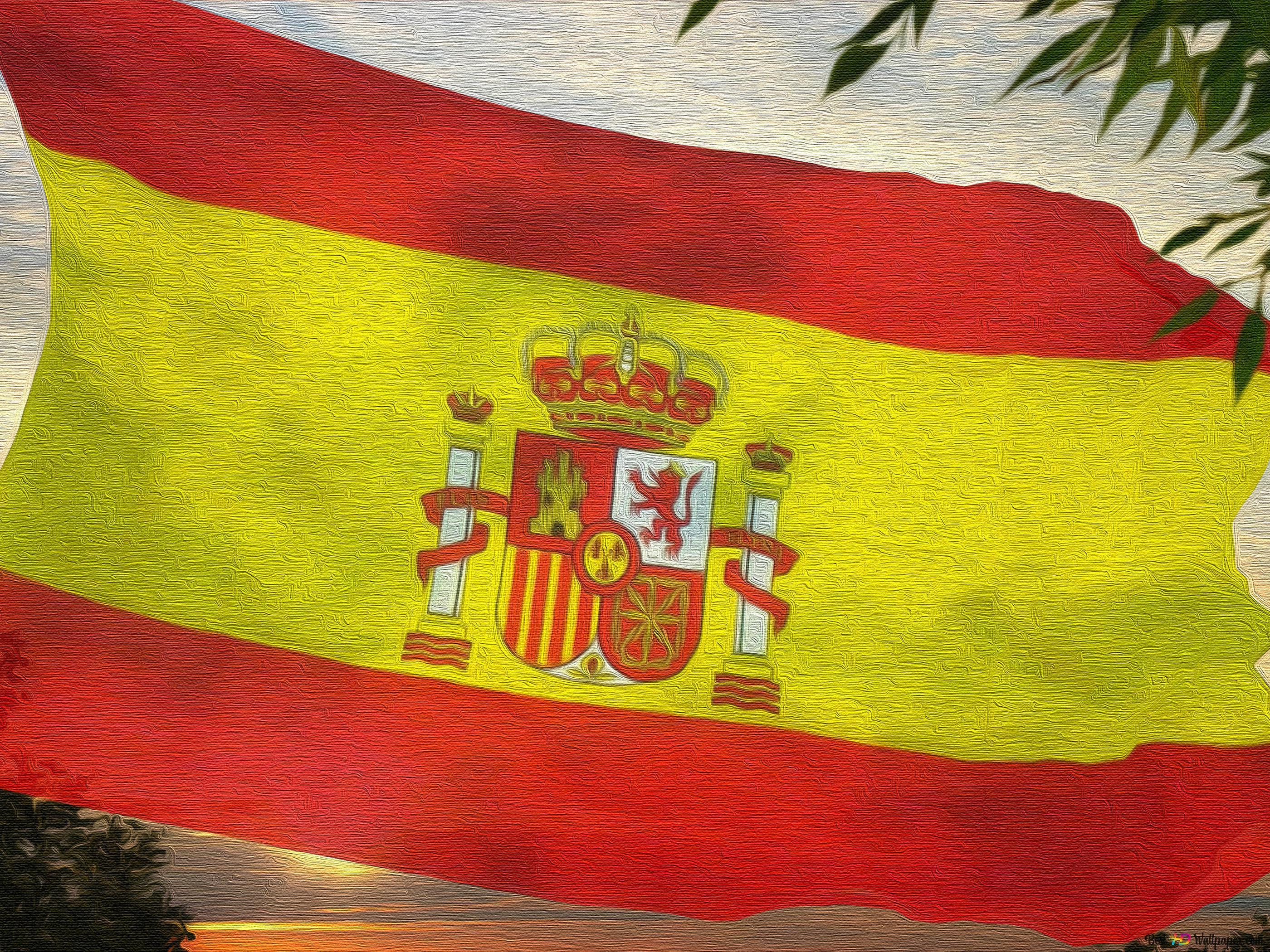 スペインの旗キャンバス Hd壁紙のダウンロード