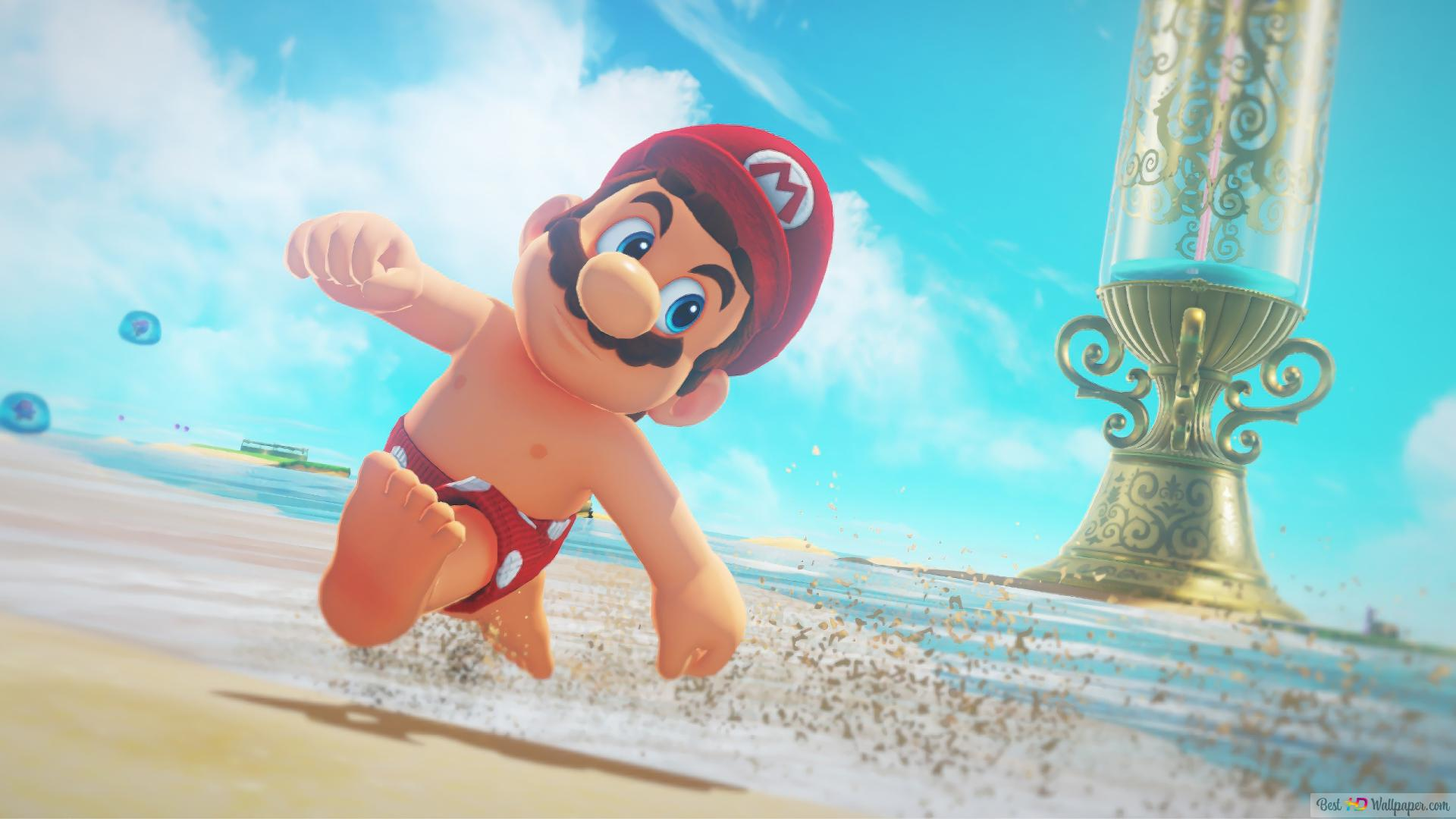 Super Mario Odyssey Seaside Kingdom Hd Wallpaper Download