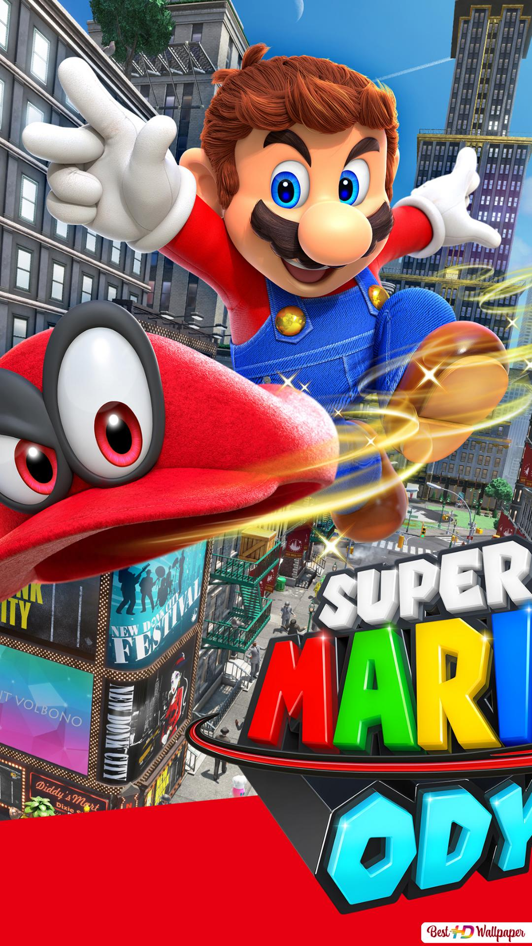 Super Mario Odyssey Video Game Hd Wallpaper Download