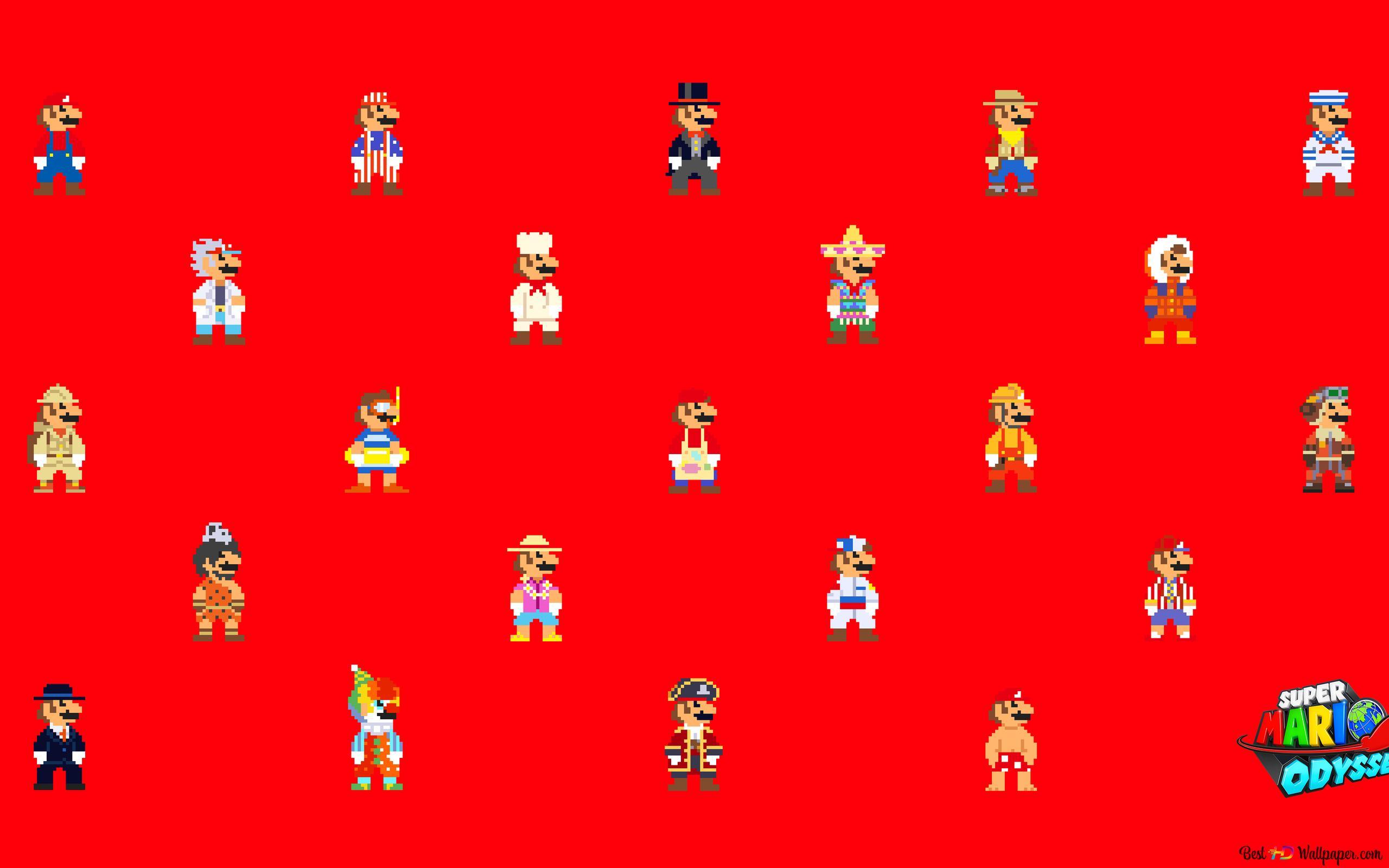 Super Mario Outfit HD Hintergrundbilder herunterladen
