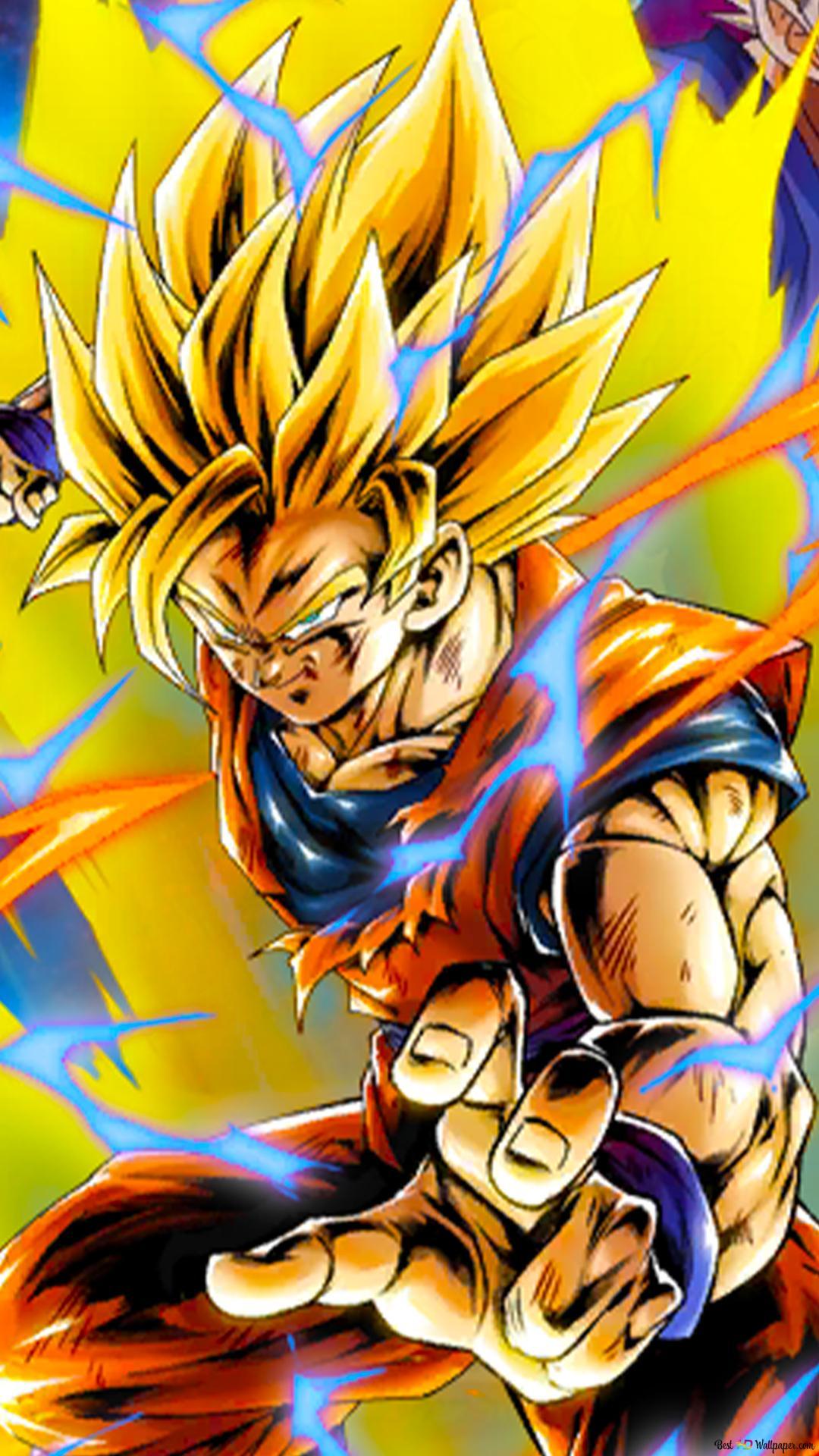 Super Saiyan 2 Goku From Dragon Ball Z Dragon Ball Legends Arts For Desktop Hd Wallpaper Download