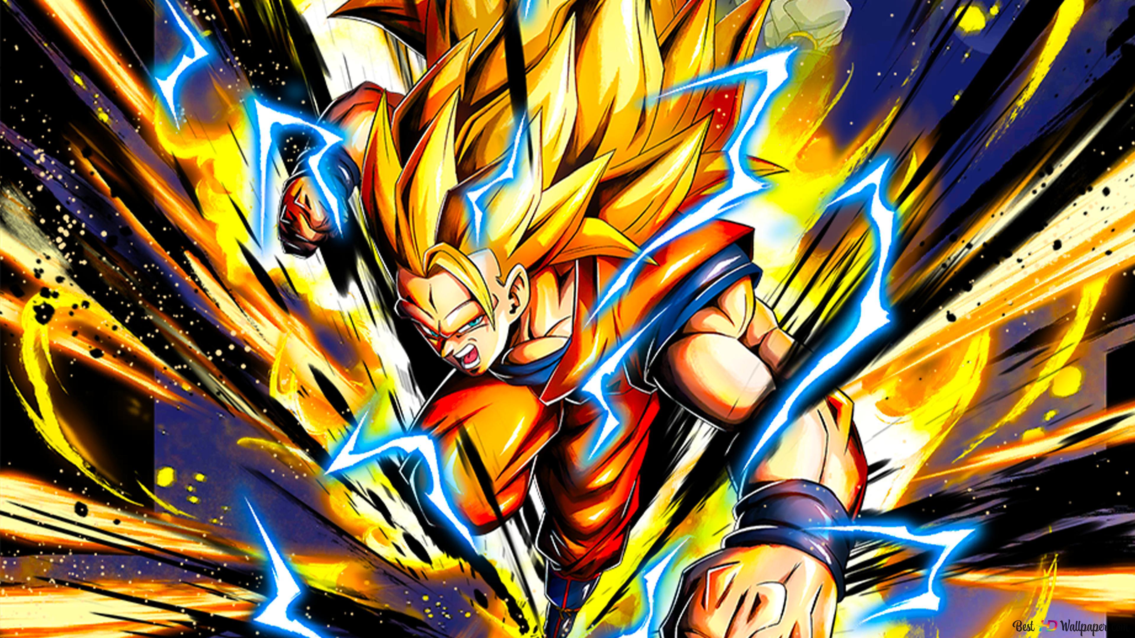 Super Saiyan 3 Goku From Dragon Ball Z Dragon Ball Legends Arts For Desktop Hd Wallpaper Download