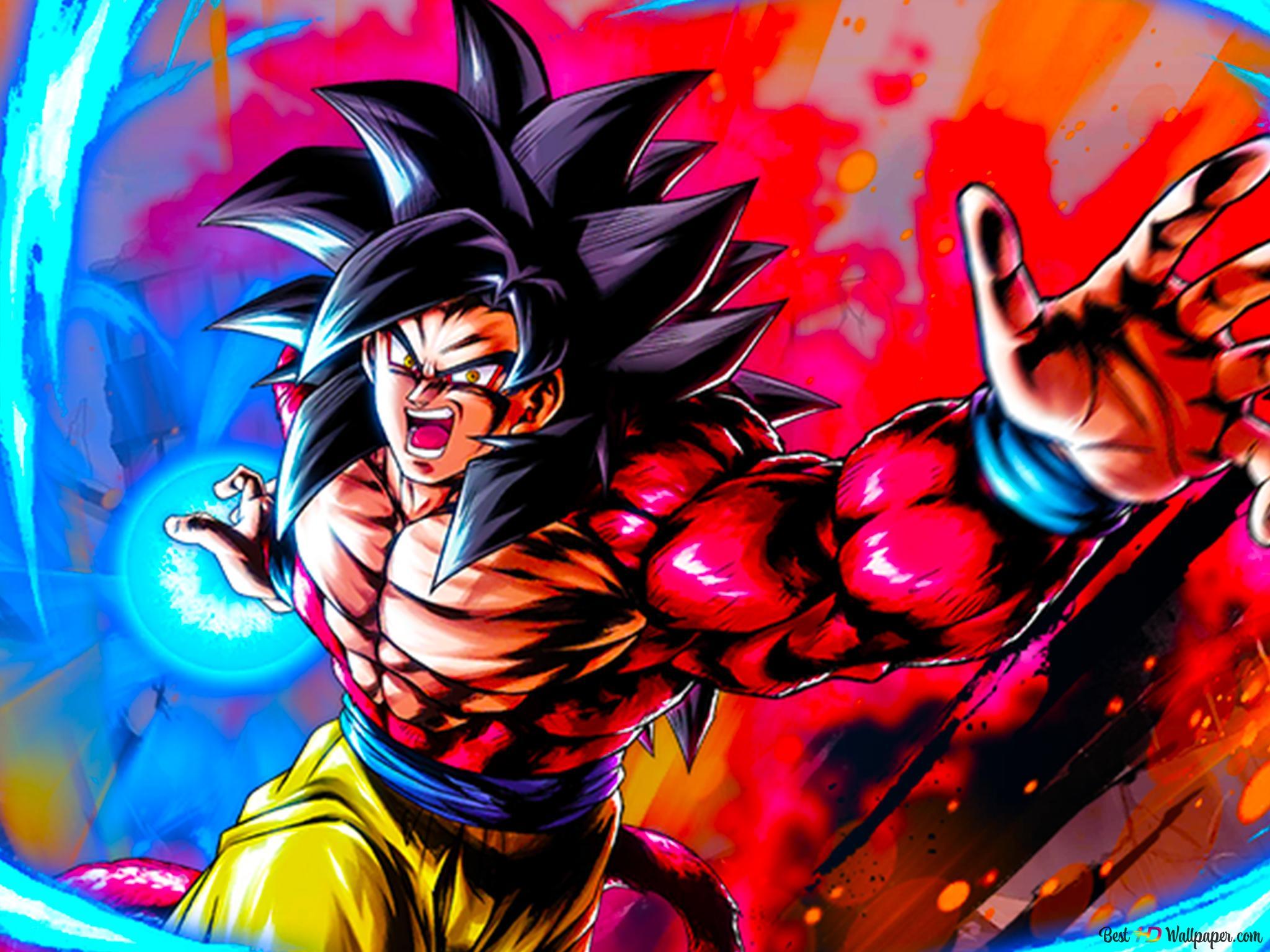 Super Saiyan 4 Goku Dragon Ball Gt Art From Dragon Ball Legends Android Iphone Hd Wallpaper Download
