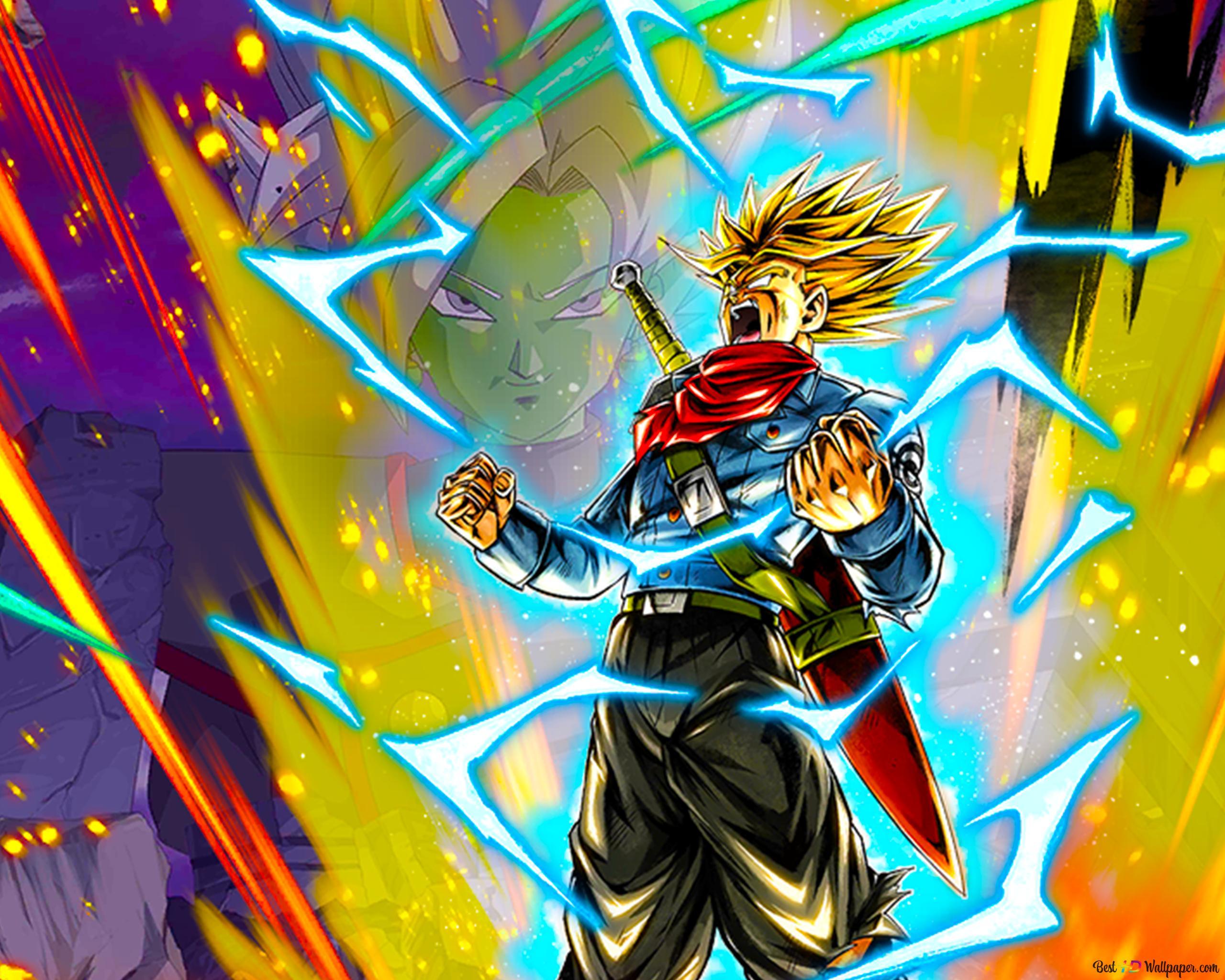 Super Saiyan Rage Trunks Dari Dragon Ball Super 4k Unduhan Wallpaper Hd
