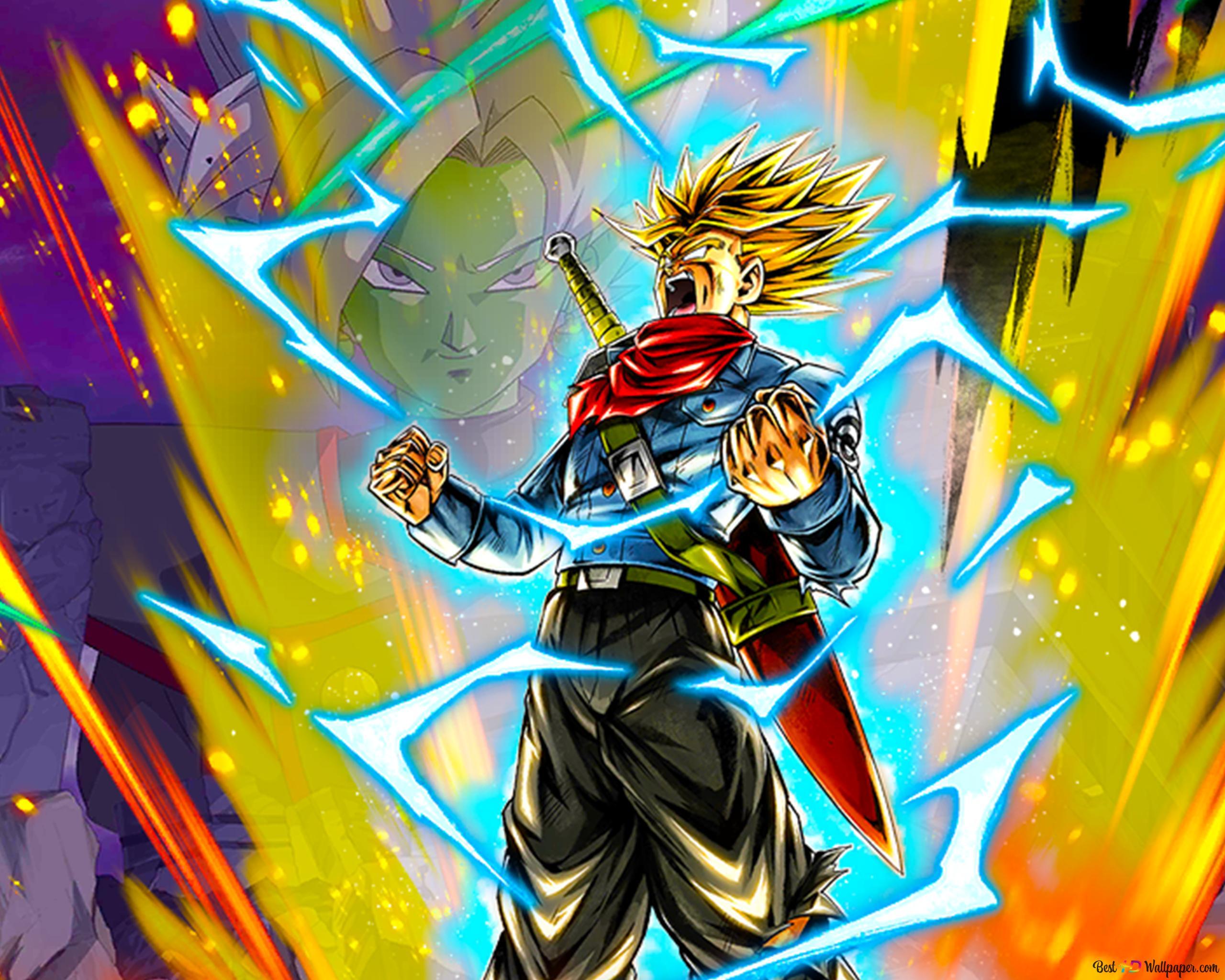 Super Saiyan Rage Trunks Dari Dragon Ball Super Dragon Ball Legends Arts Untuk Desktop Unduhan Wallpaper Hd