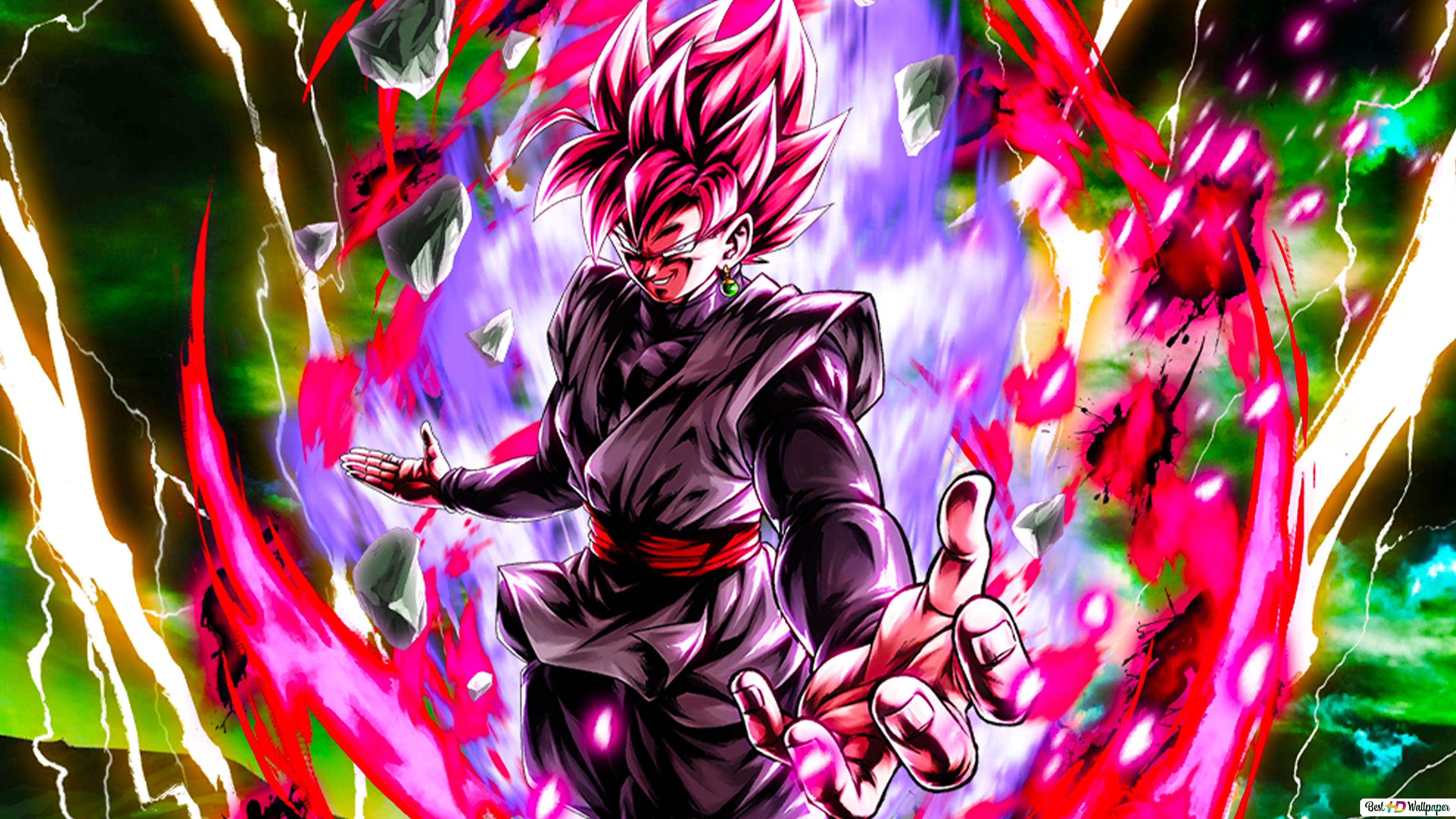 Super Saiyan Rose Goku Black Dari Dragon Ball Super Dragon Ball Legends Arts Untuk Desktop Unduhan Wallpaper Hd