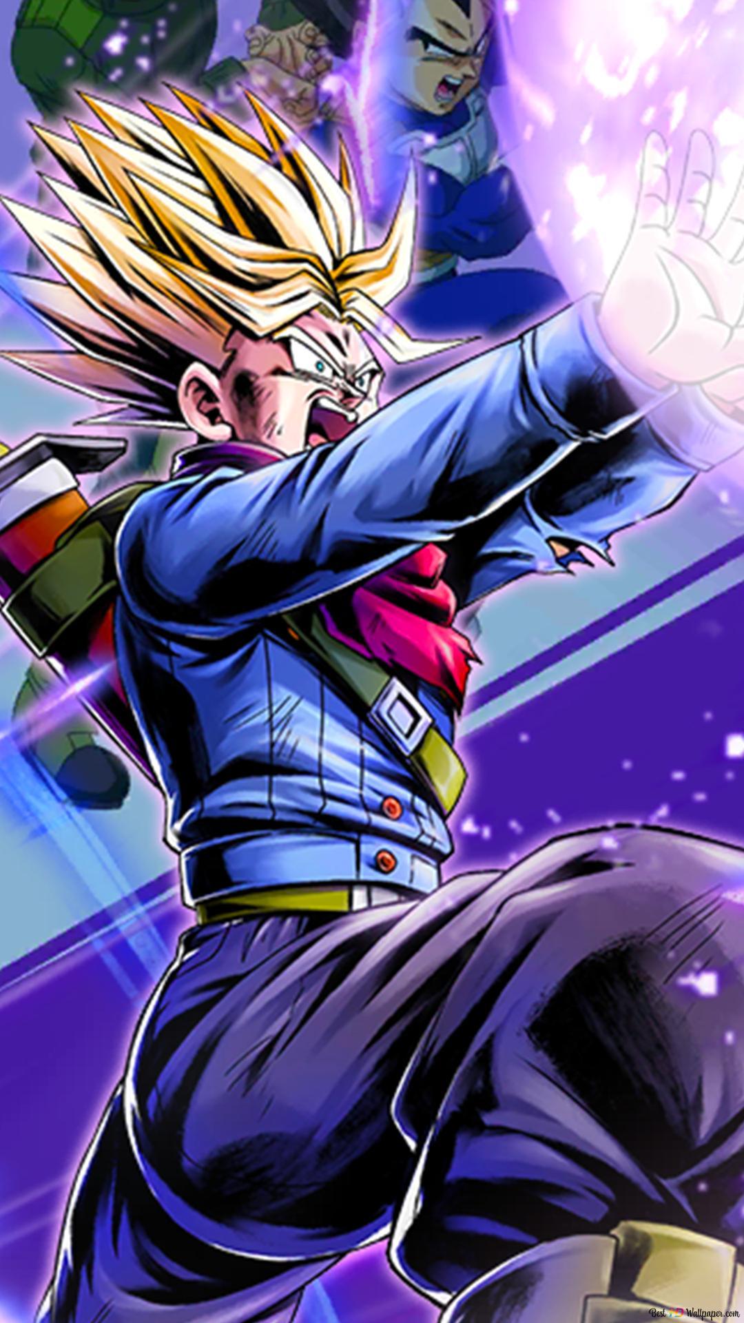 Super Saiyan Trunks Galick Gun Dari Dragon Ball Super Dragon Ball Legends Arts Untuk Desktop Unduhan Wallpaper Hd
