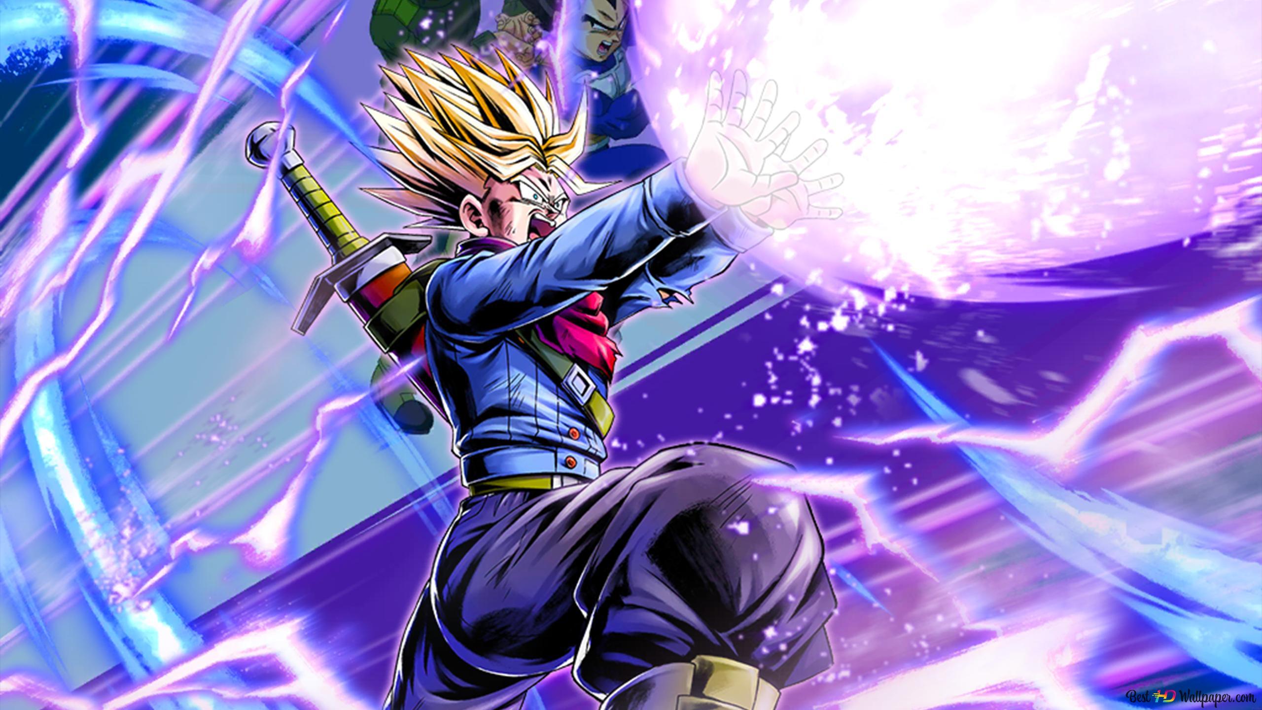 Super Saiyan Trunks (Galick Gun) từ Dragon Ball Super [Dragon Ball Legends  Arts] dành cho máy tính để bàn Tải xuống hình nền HD