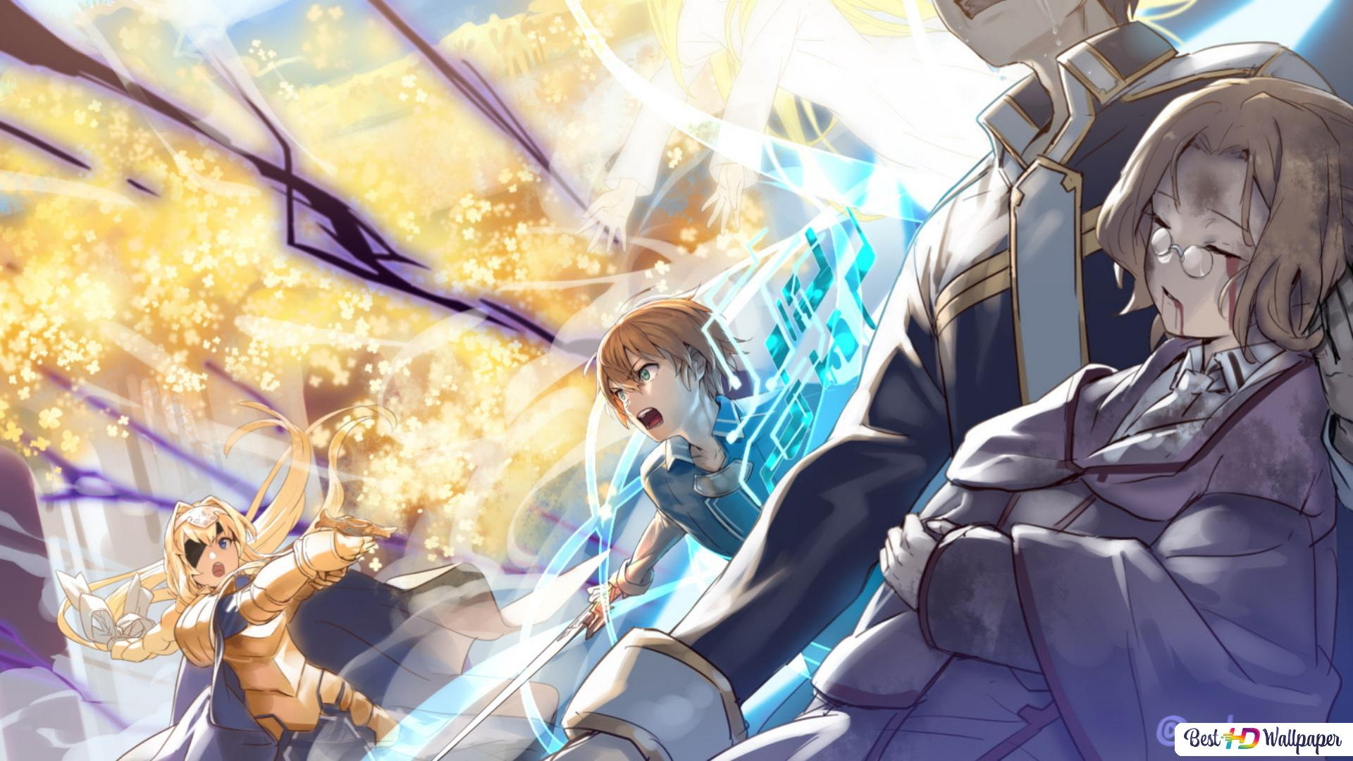 Sword Art Online Alicization Alice Zuberg Eugeo Kirito