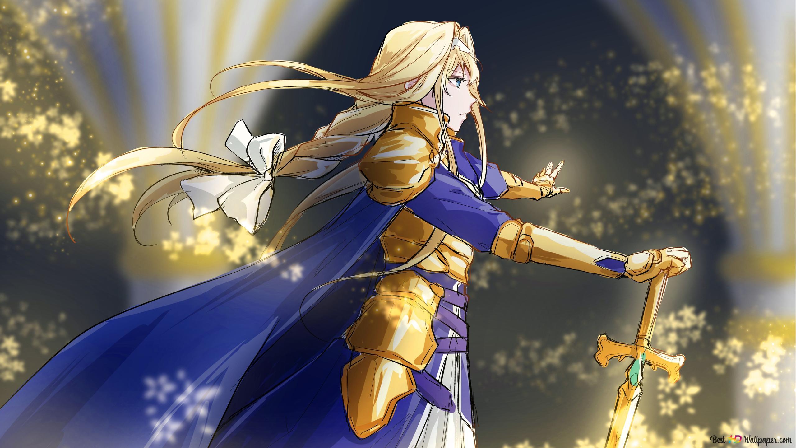 Sword Art Online Alicization Alice Zuberg Golden Knight Hd