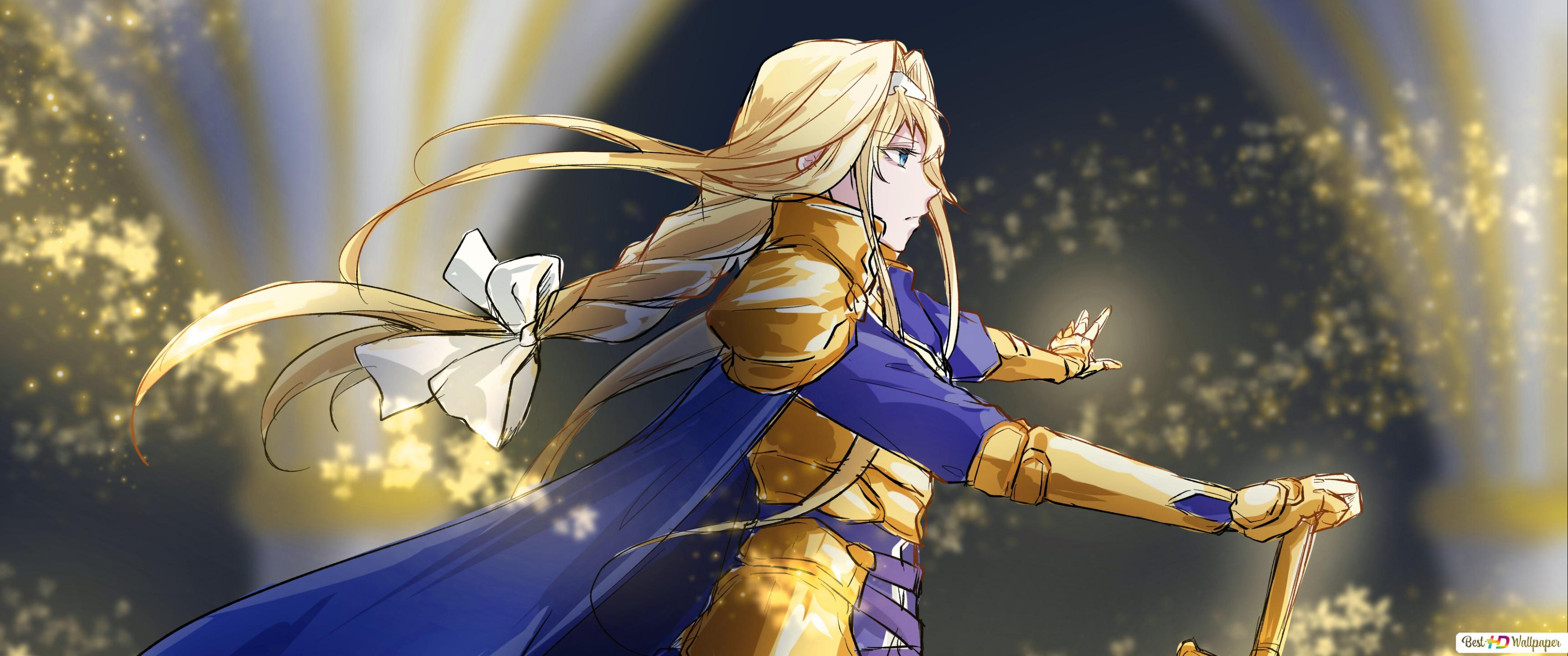 Sword Art Online Alicization Alice Zuberg Golden Knight Hd Wallpaper Download